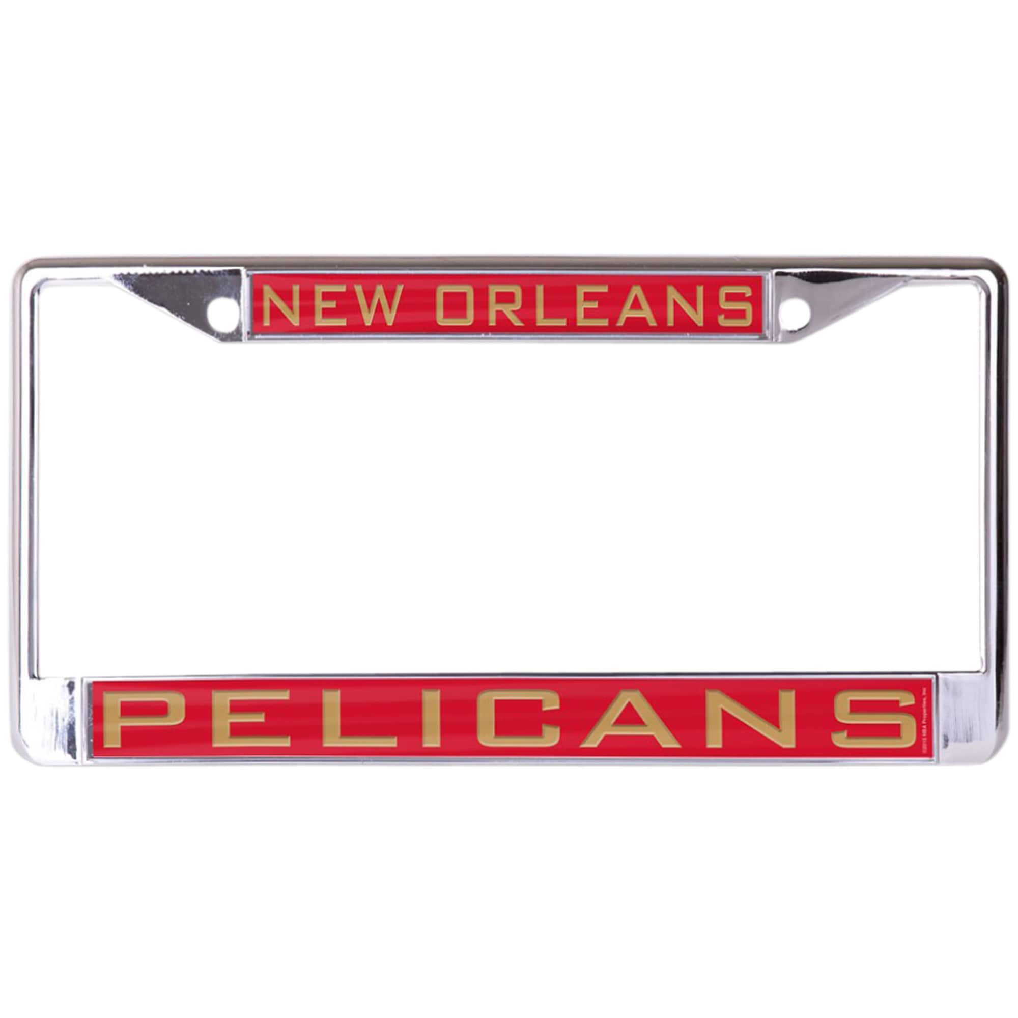 New Orleans Pelicans WinCraft Laser Inlaid Metal License Plate Frame