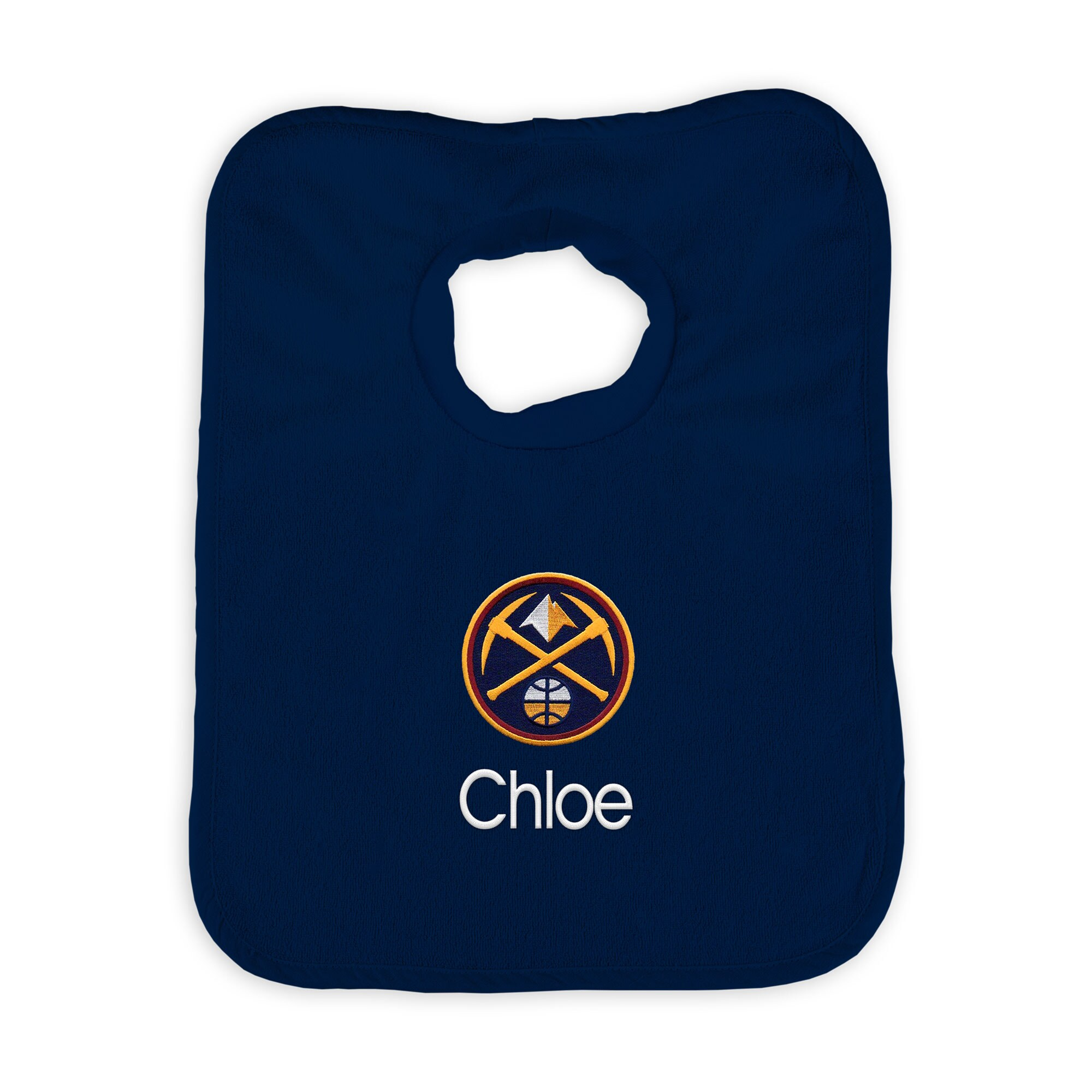 Denver Nuggets Infant Personalized Bib - Navy