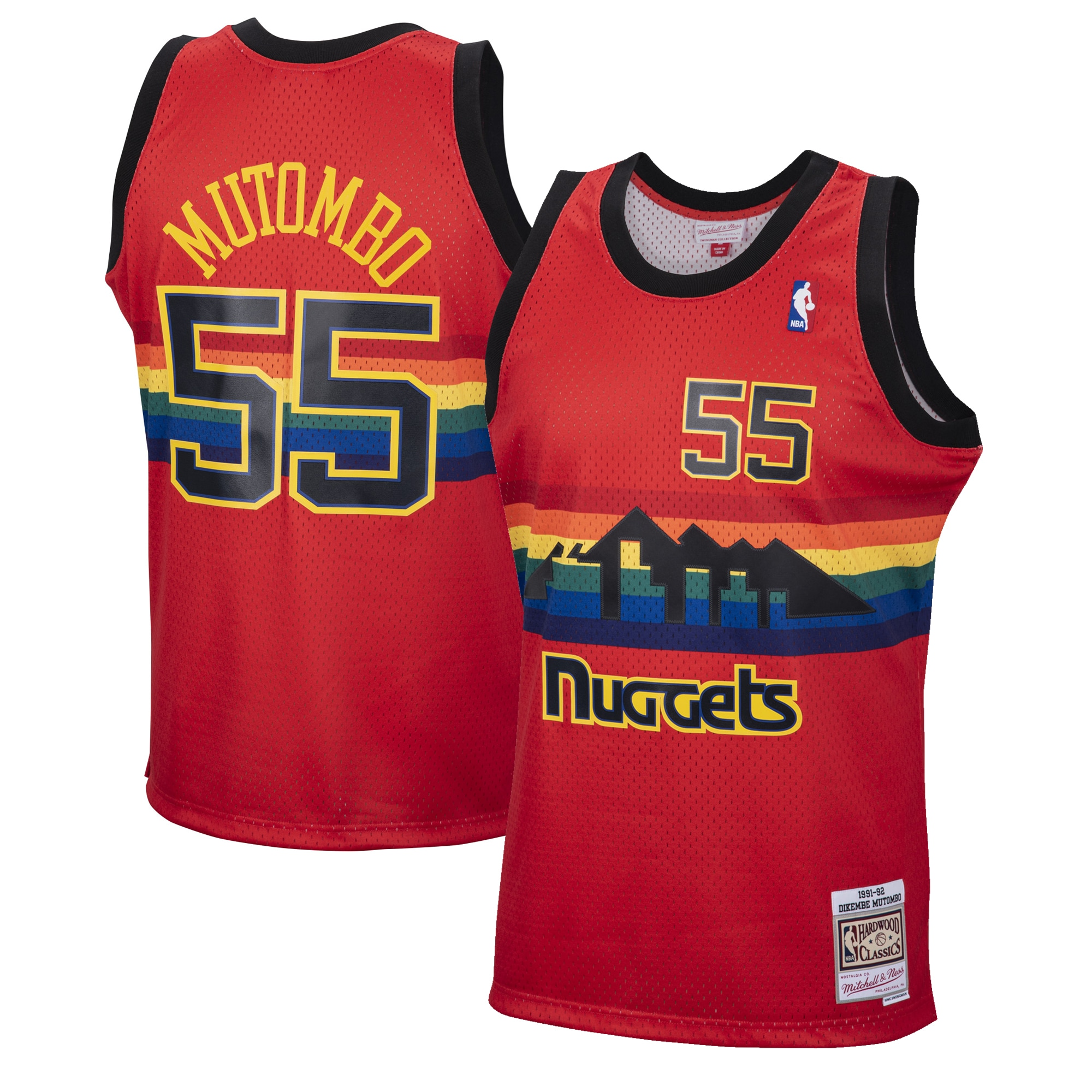 Dikembe Mutombo Denver Nuggets Mitchell & Ness 1991-92 Hardwood Classics Reload Swingman Jersey - Red