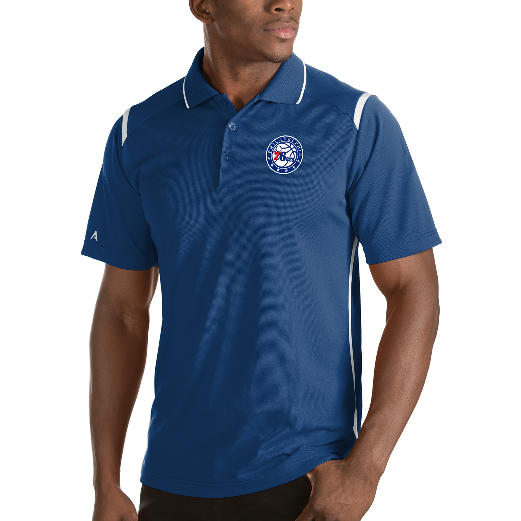 Philadelphia 76ers Antigua Merit Polo - Royal