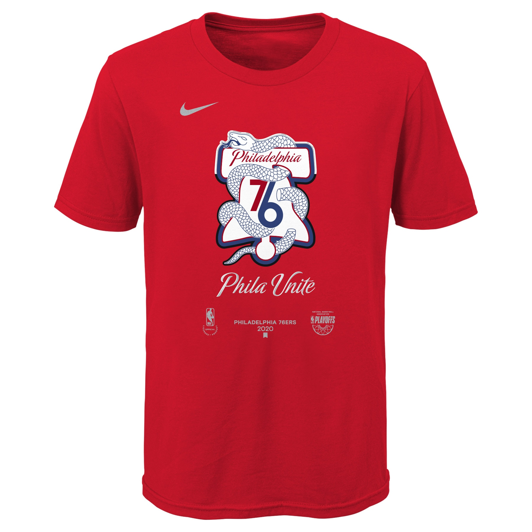 Philadelphia 76ers Nike Youth 2020 NBA Playoffs Bound Mantra T-Shirt - Red