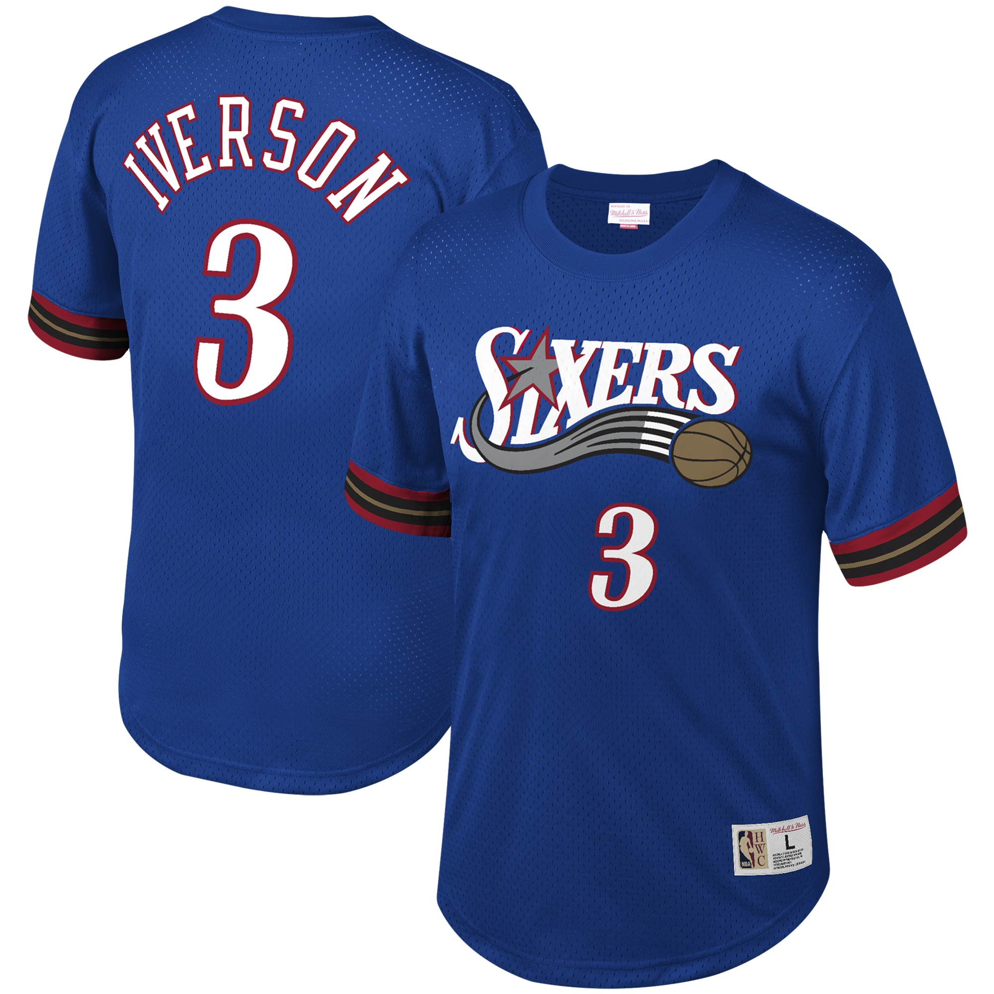Allen Iverson Philadelphia 76ers Mitchell & Ness Mesh T-Shirt - Royal