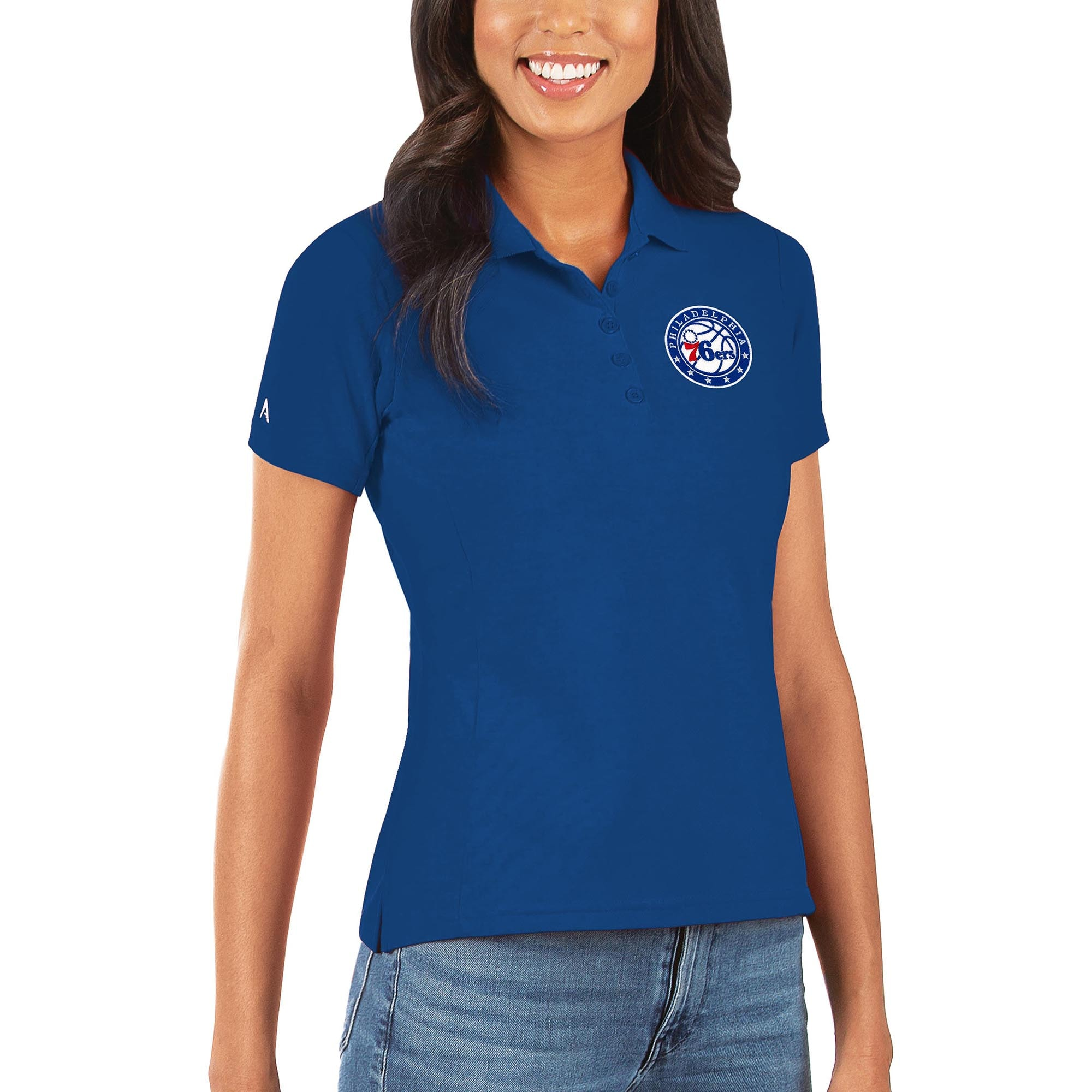 Philadelphia 76ers Antigua Women's Legacy Pique Polo - Royal