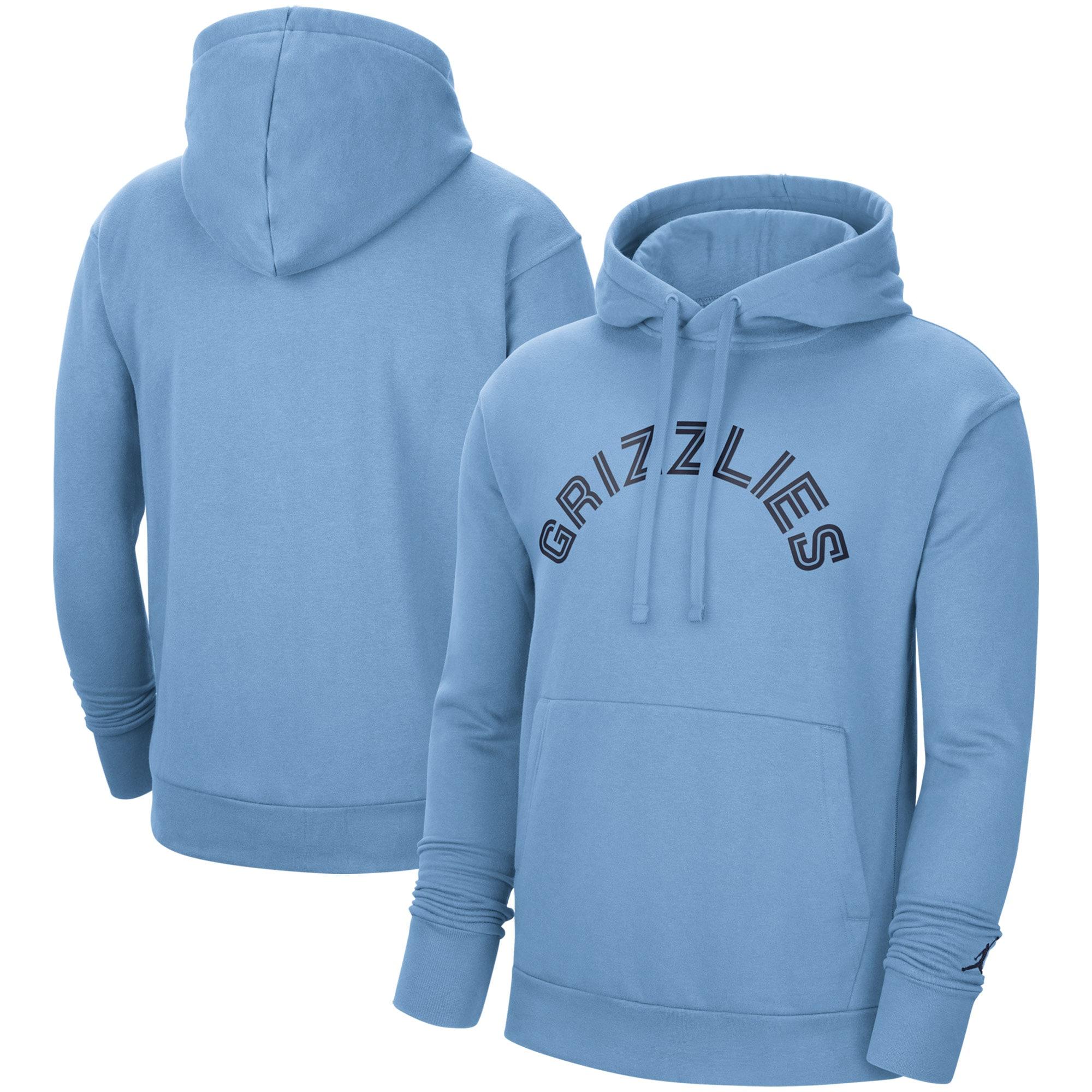 Memphis Grizzlies Jordan Brand Statement Edition Pullover Hoodie - Light Blue