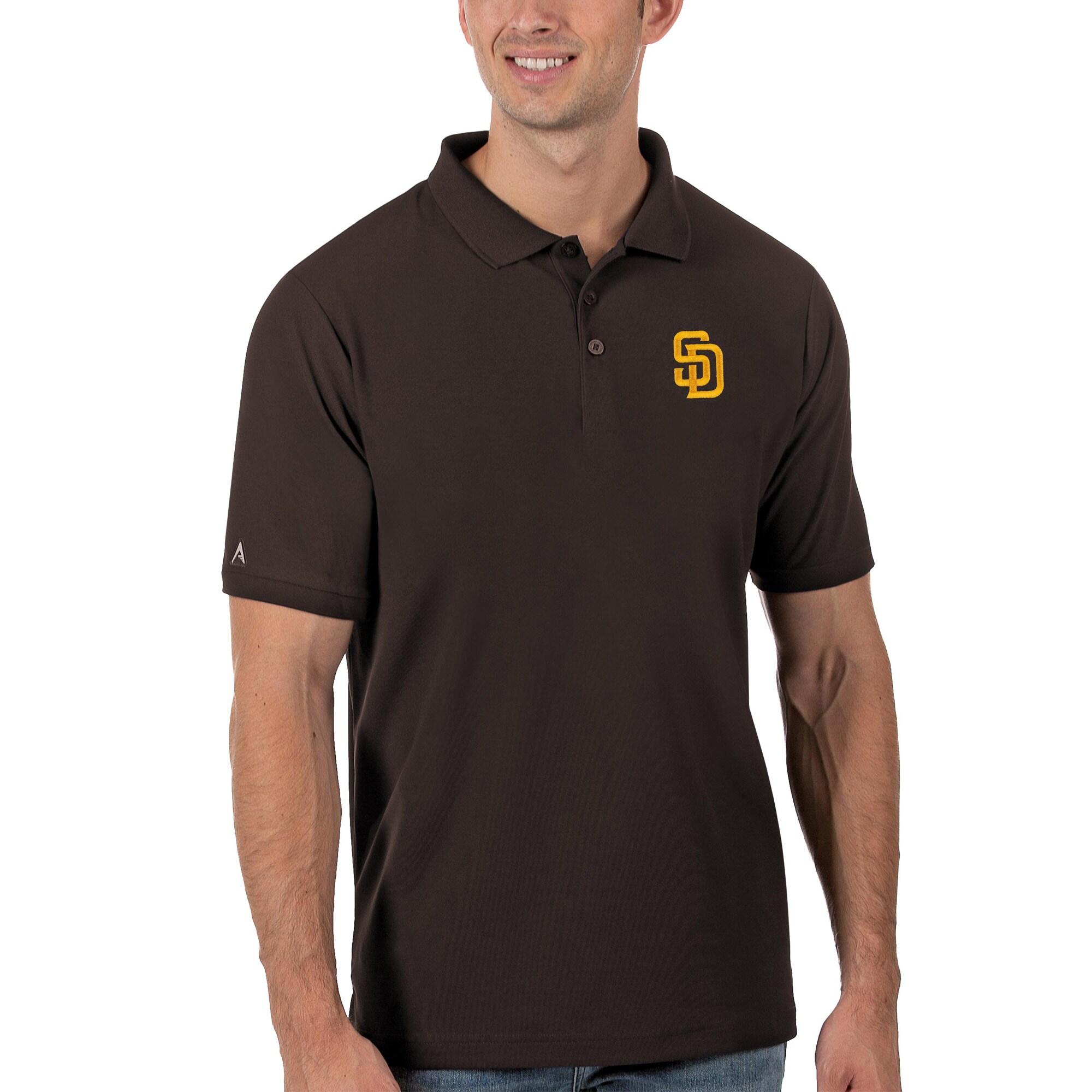 San Diego Padres Antigua Legacy Pique Polo - Brown
