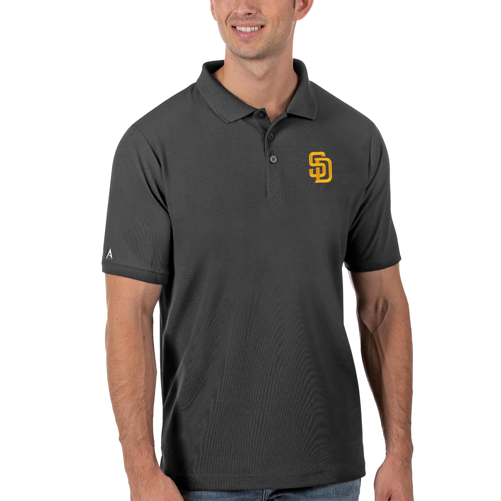 San Diego Padres Antigua Legacy Pique Polo - Gray