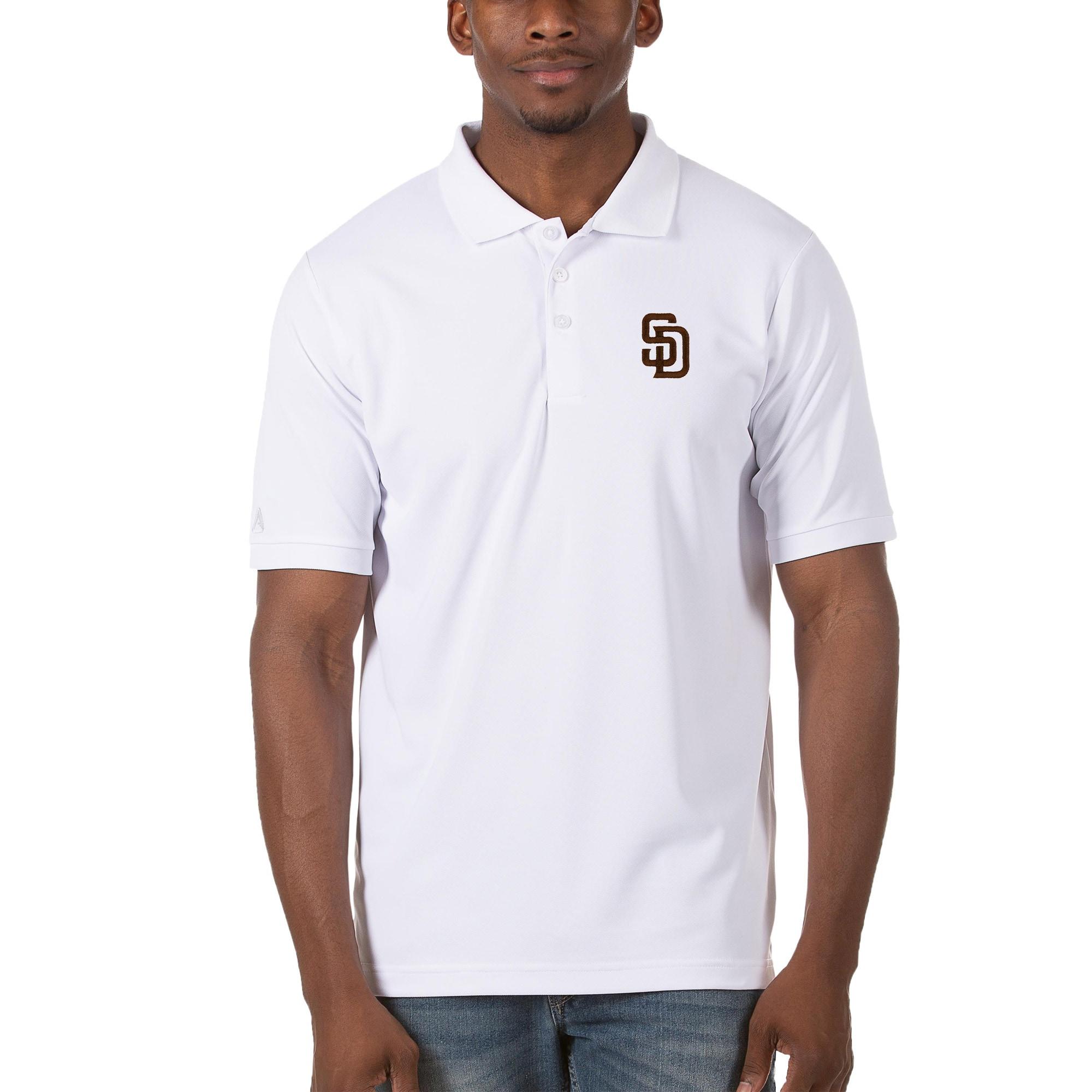 San Diego Padres Antigua Legacy Pique Polo - White