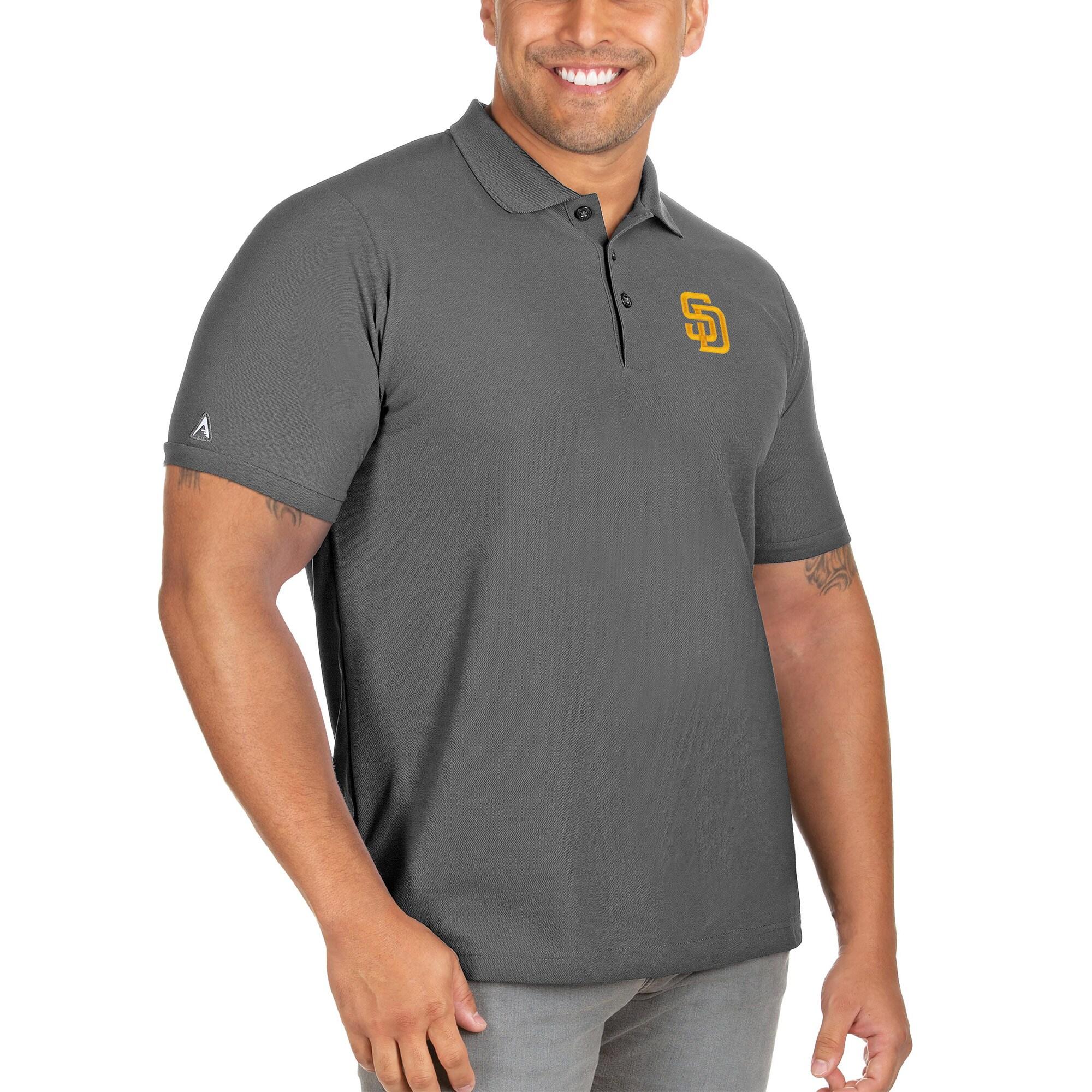 San Diego Padres Antigua Big & Tall Legacy Pique Polo - Gray