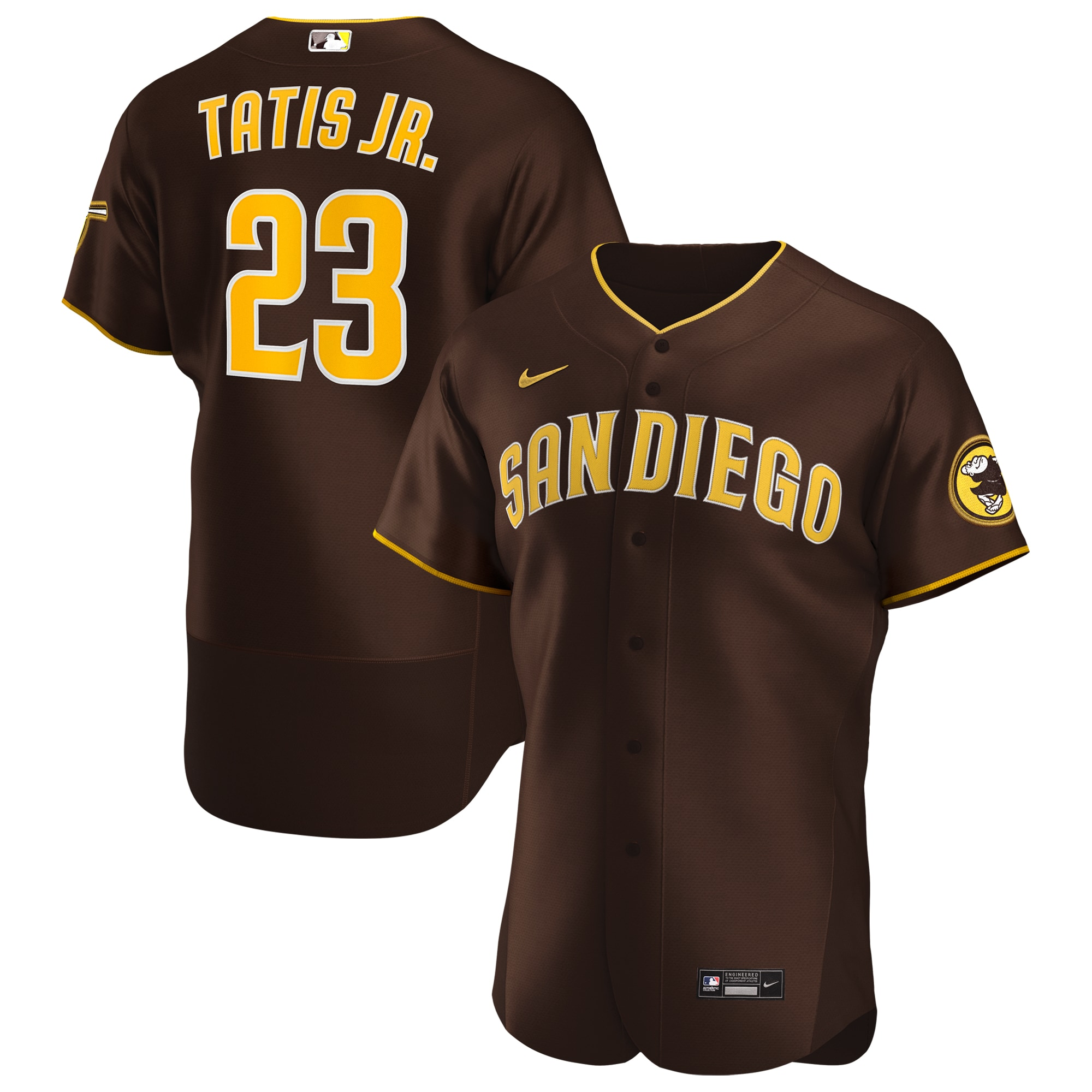 Fernando Tatís Jr. San Diego Padres Nike Road 2020 Authentic Player Jersey - Brown