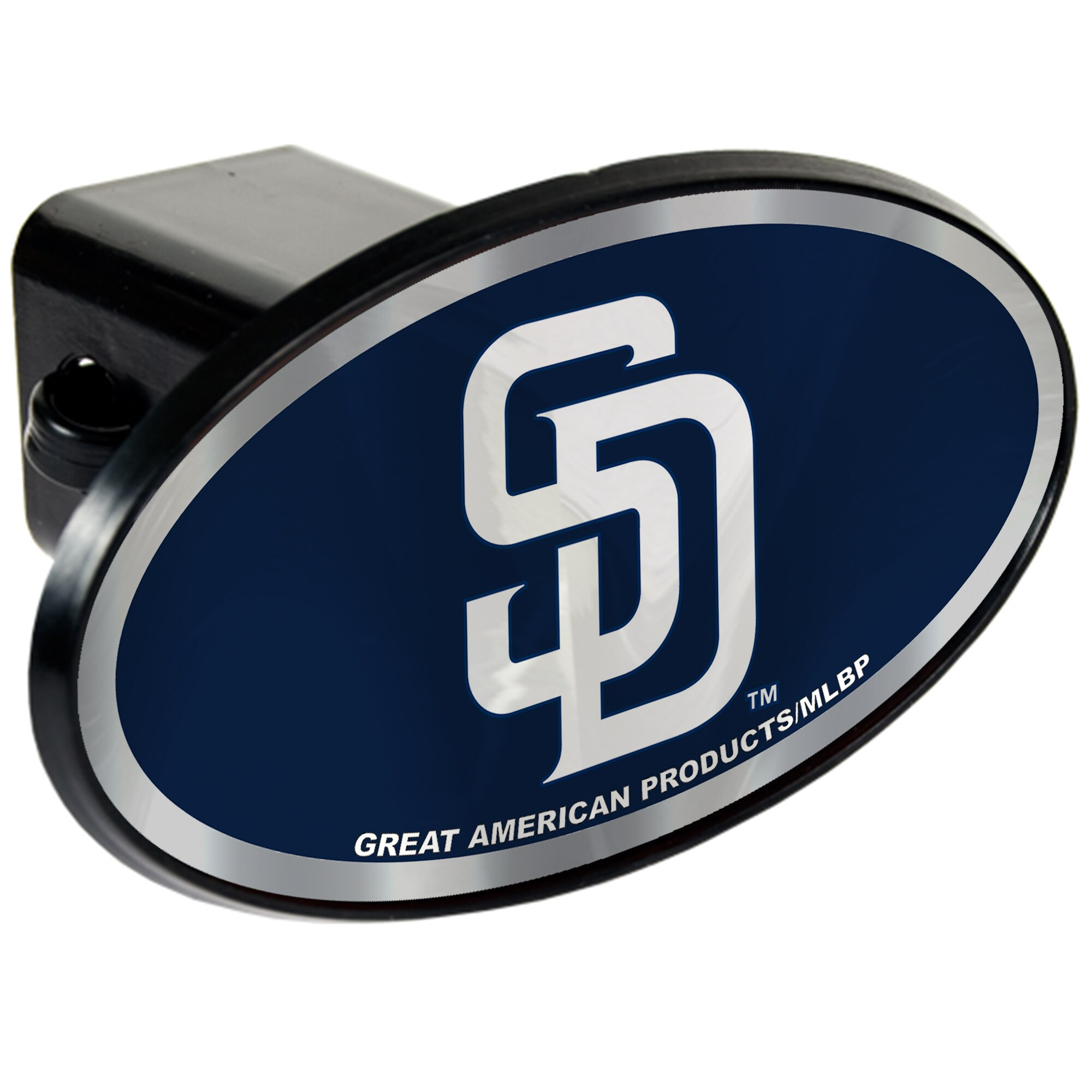 San Diego Padres Oval Car Hitch Cover