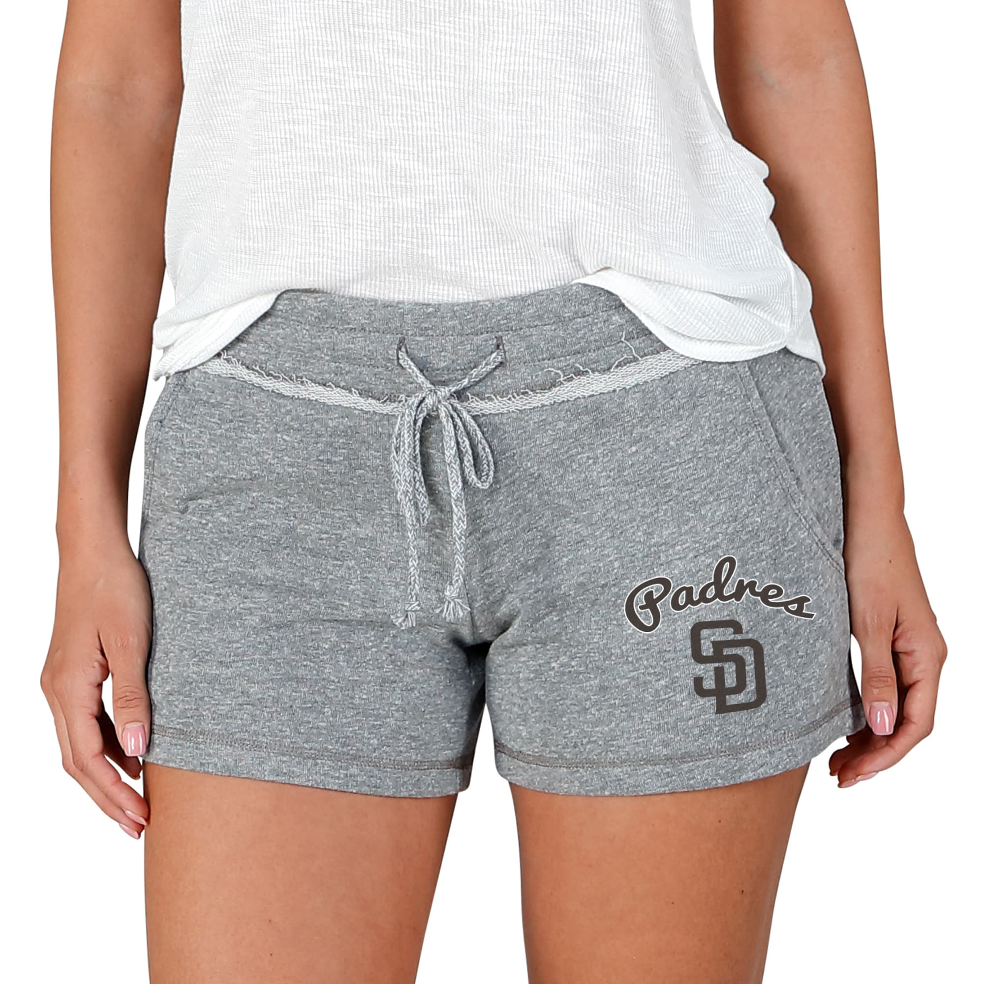San Diego Padres Concepts Sport Women's Mainstream Terry Shorts - Gray