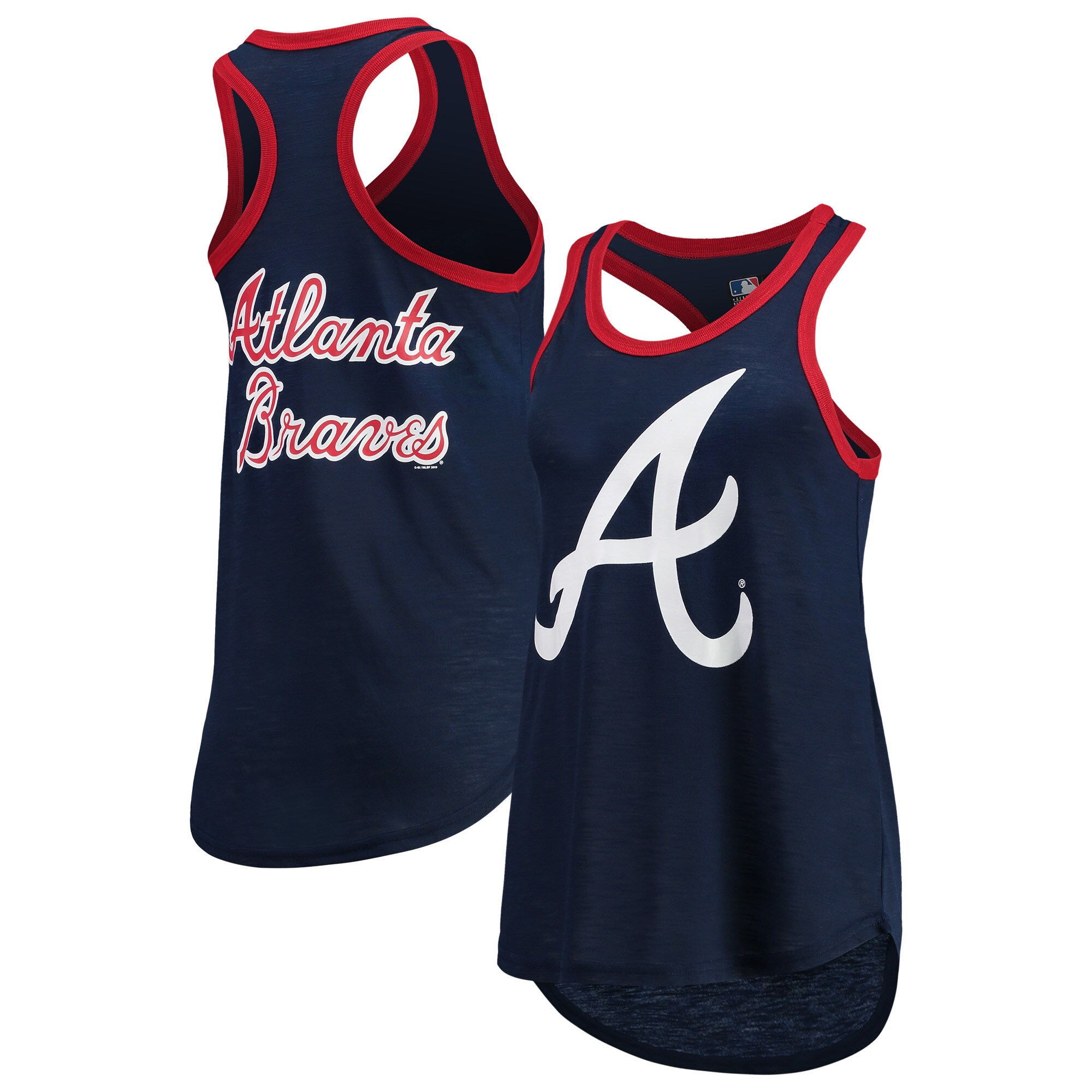 Atlanta Braves G-III 4Her by Carl Banks Women's Team Color Tater Tank Top - Navy