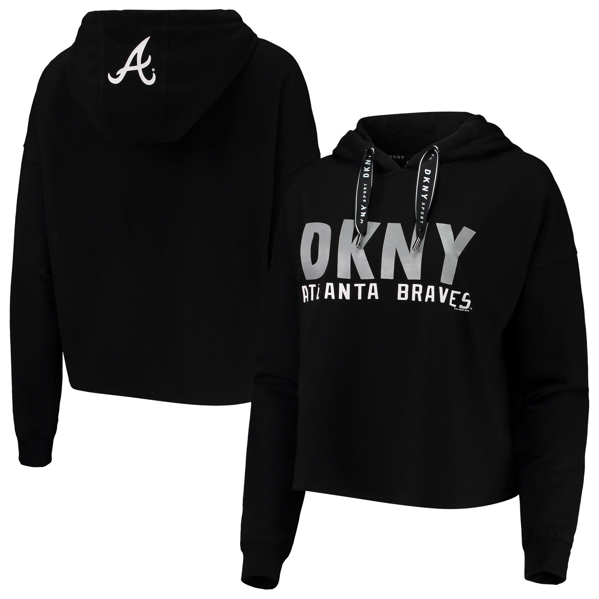 Atlanta Braves DKNY Sport Women's The Maddie Pullover Hoodie - Black