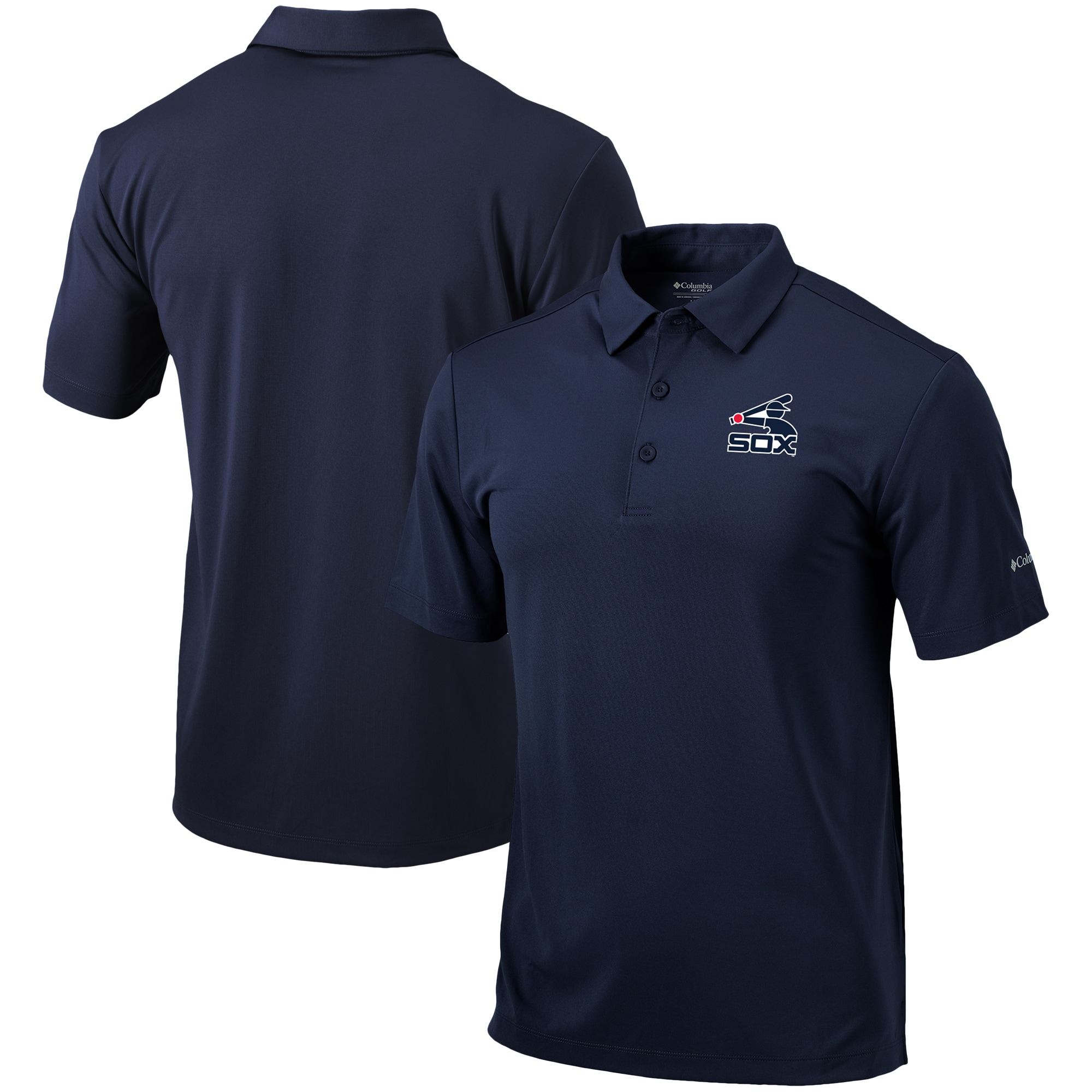 Chicago White Sox Columbia Cooperstown Collection Drive Polo - Navy