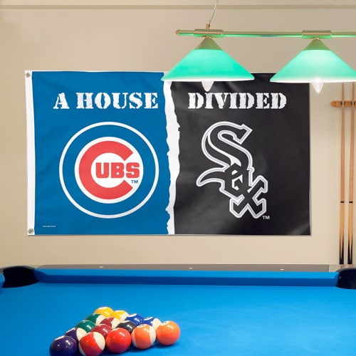 Chicago Cubs/Chicago White Sox WinCraft Deluxe 3' x 5' House Divided Flag