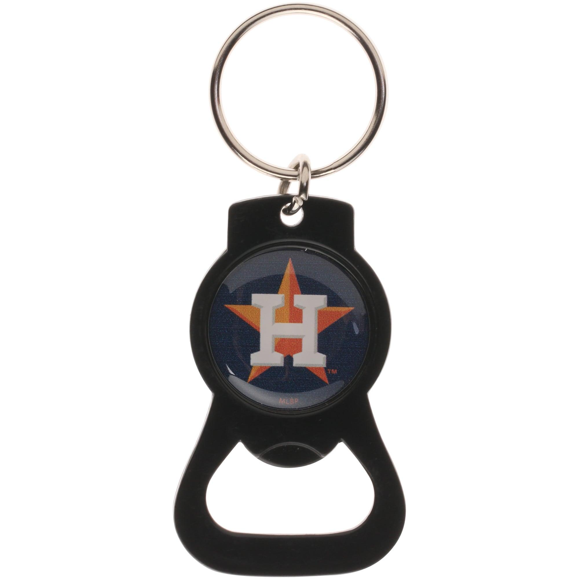 Houston Astros Bottle Opener Keychain - Black
