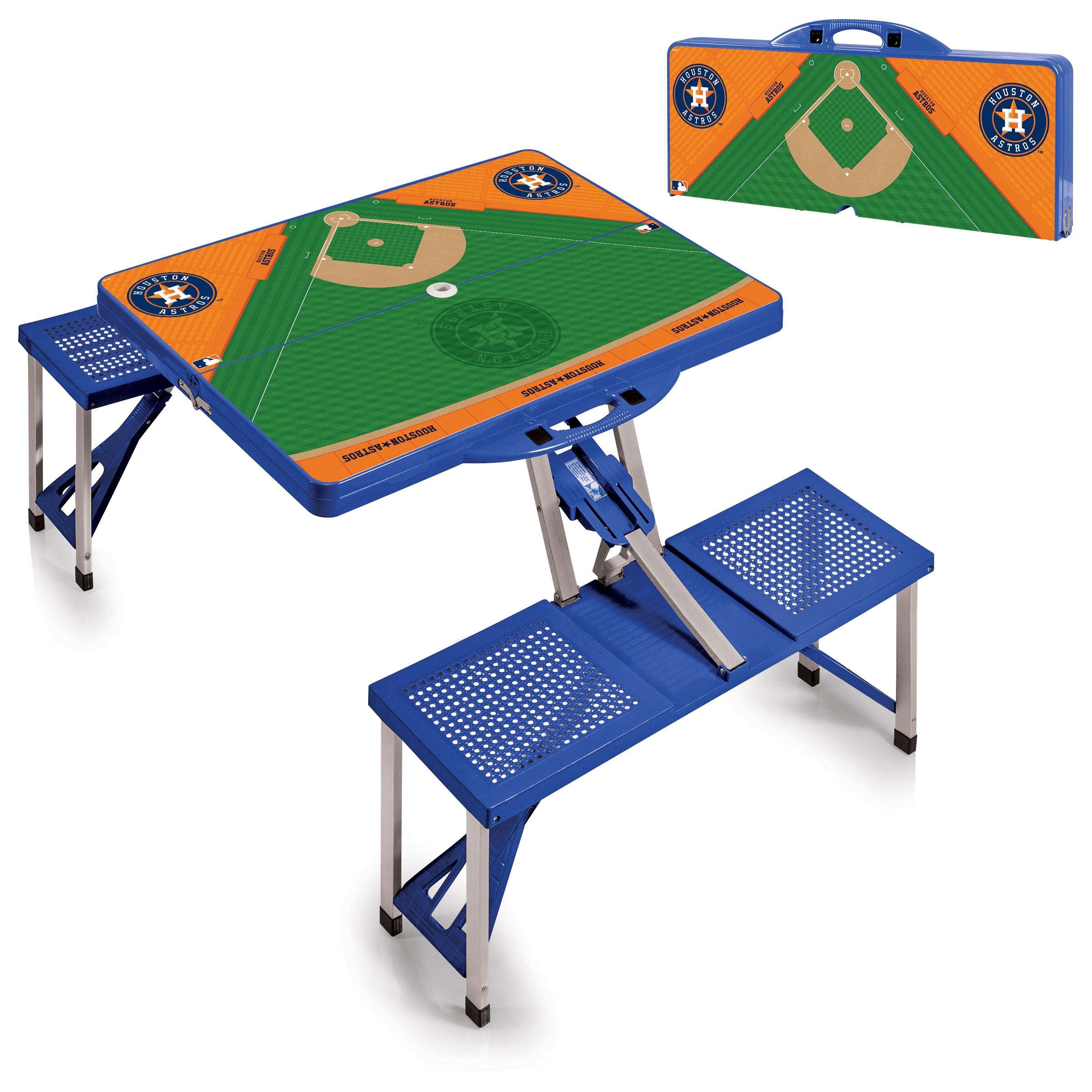 Houston Astros Field Portable Picnic Table - Blue