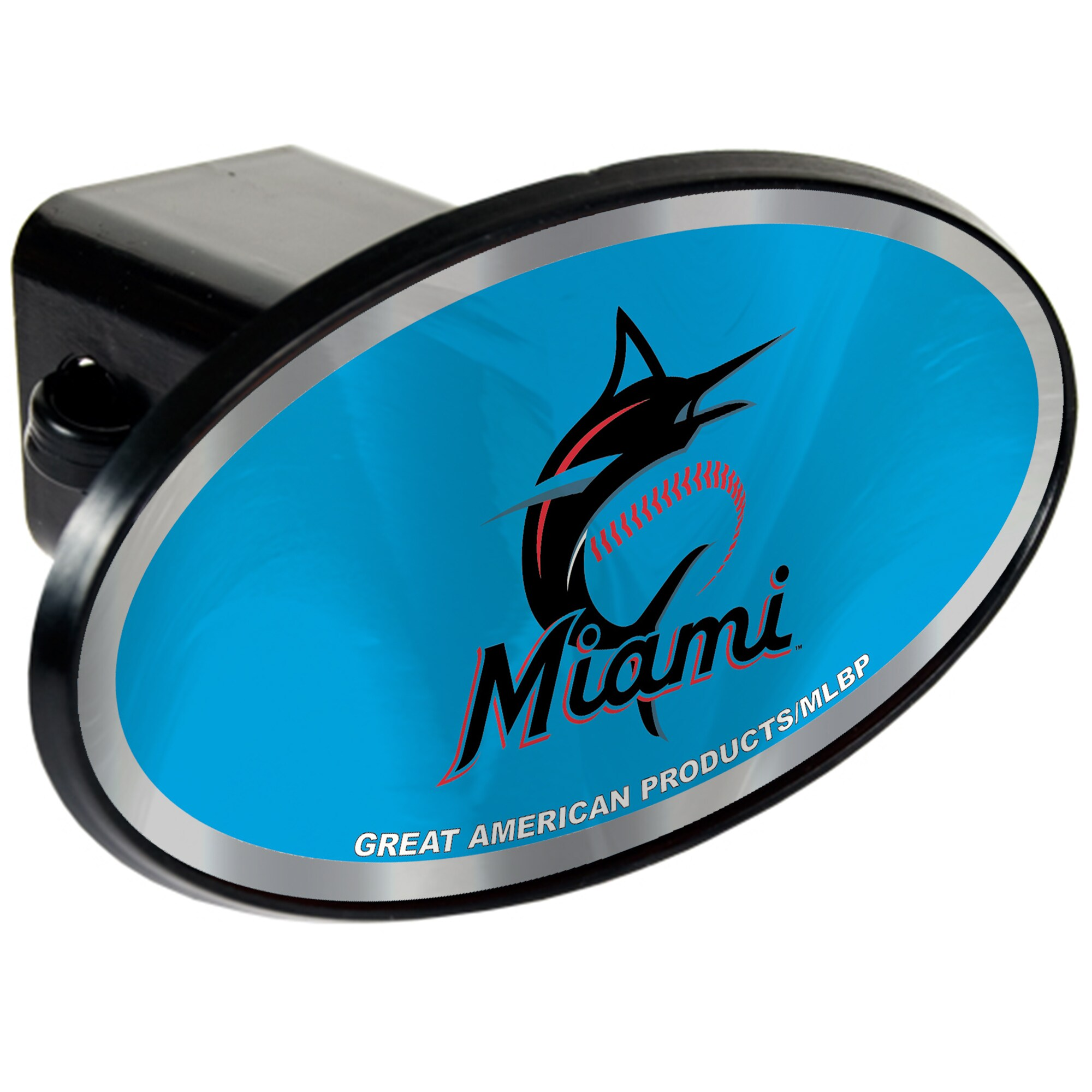 Miami Marlins Oval Car Hitch Cover