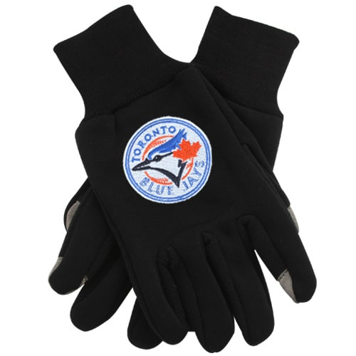 Toronto Blue Jays McArthur Team Logo Touch Gloves - Black