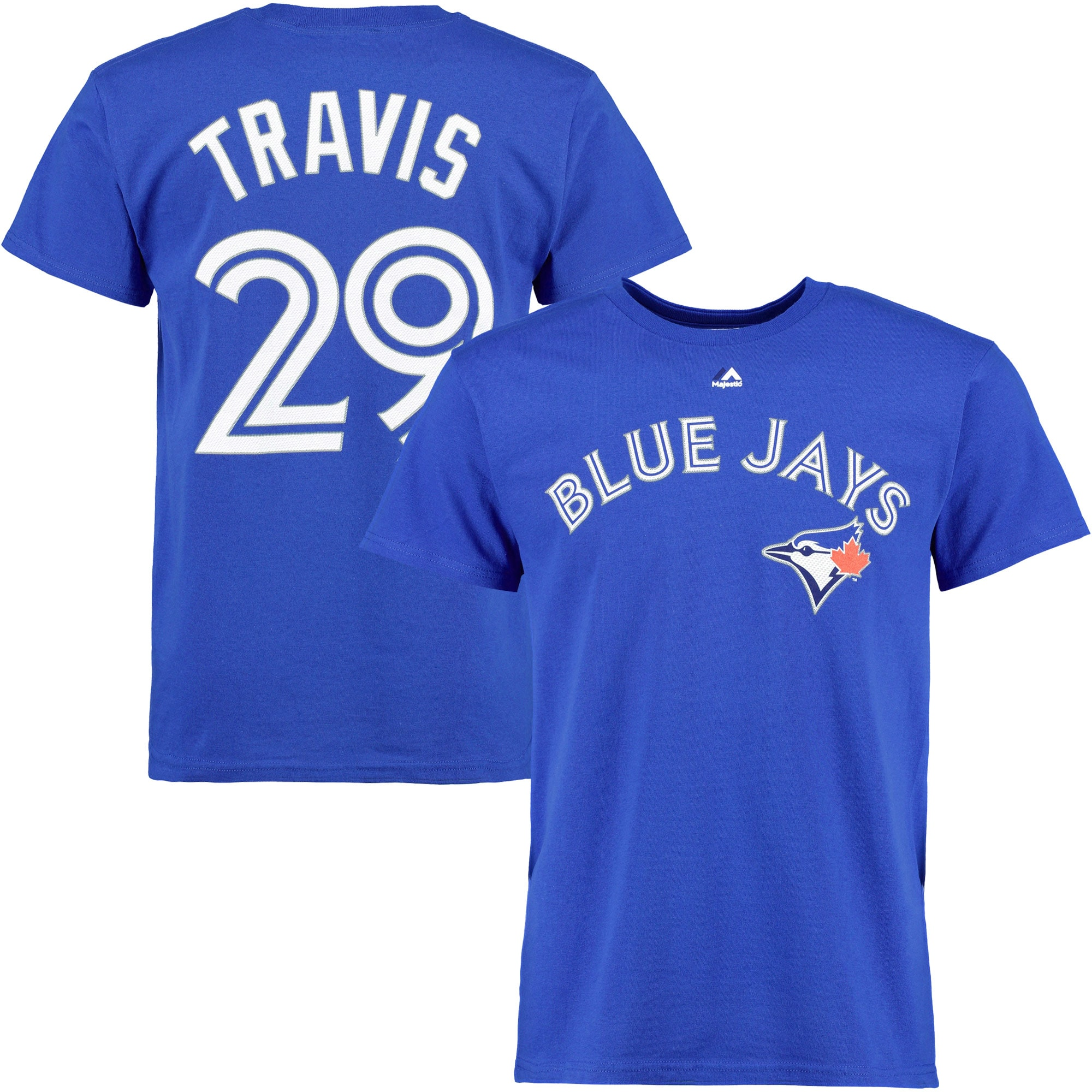 Devon Travis Toronto Blue Jays Majestic Official Name and Number T-Shirt - Royal