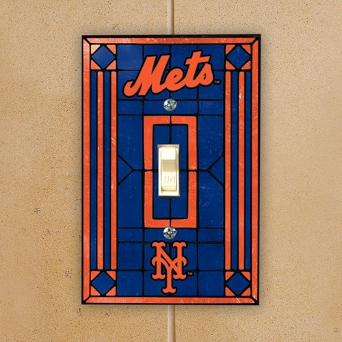 New York Mets Art Glass Switch Plate Cover
