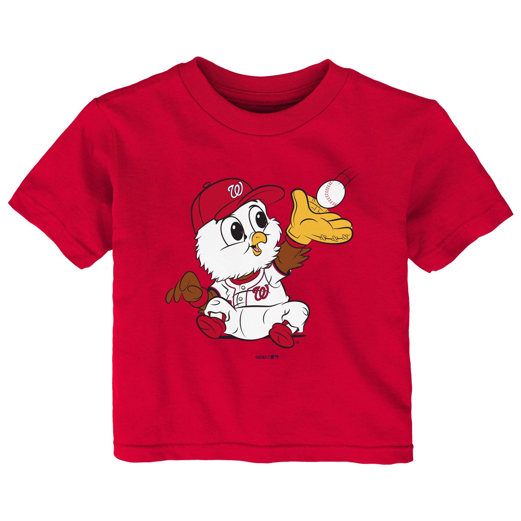 Washington Nationals Infant Baby Mascot T-Shirt - Red