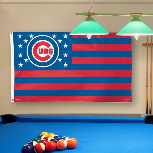 Chicago Cubs WinCraft Deluxe Stars & Stripes 3' x 5' Flag