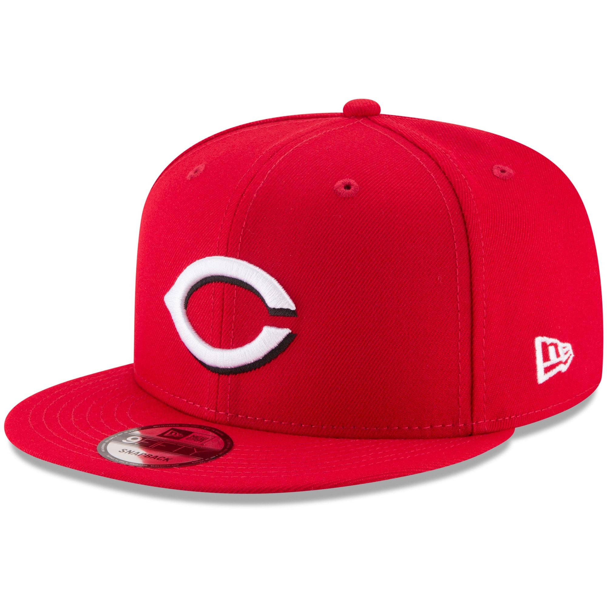 Cincinnati Reds New Era Team Color 9FIFTY Snapback Hat - Red
