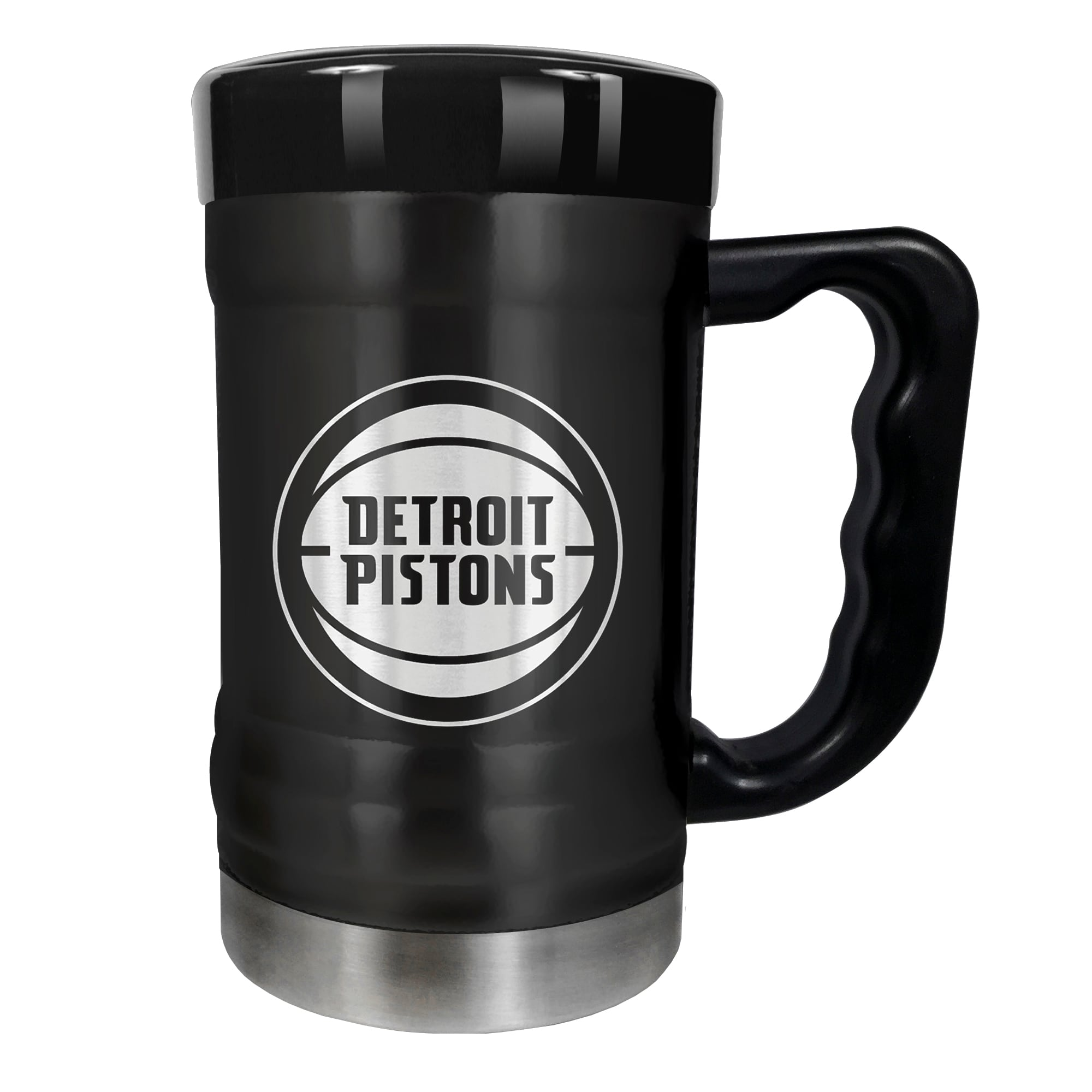 Detroit Pistons 15oz. Stealth Coach Coffee Mug - Black