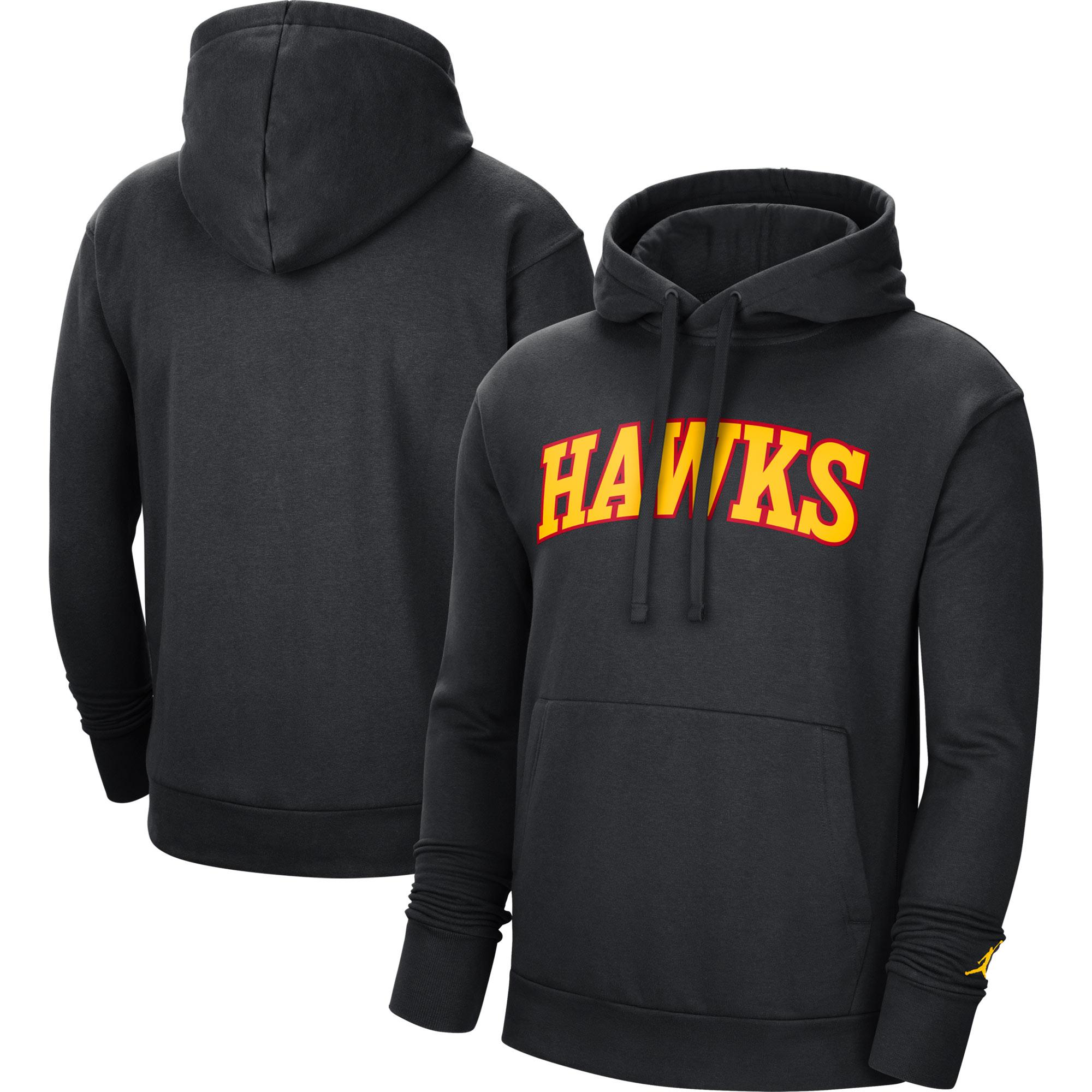 Atlanta Hawks Jordan Brand Statement Edition Pullover Hoodie - Black