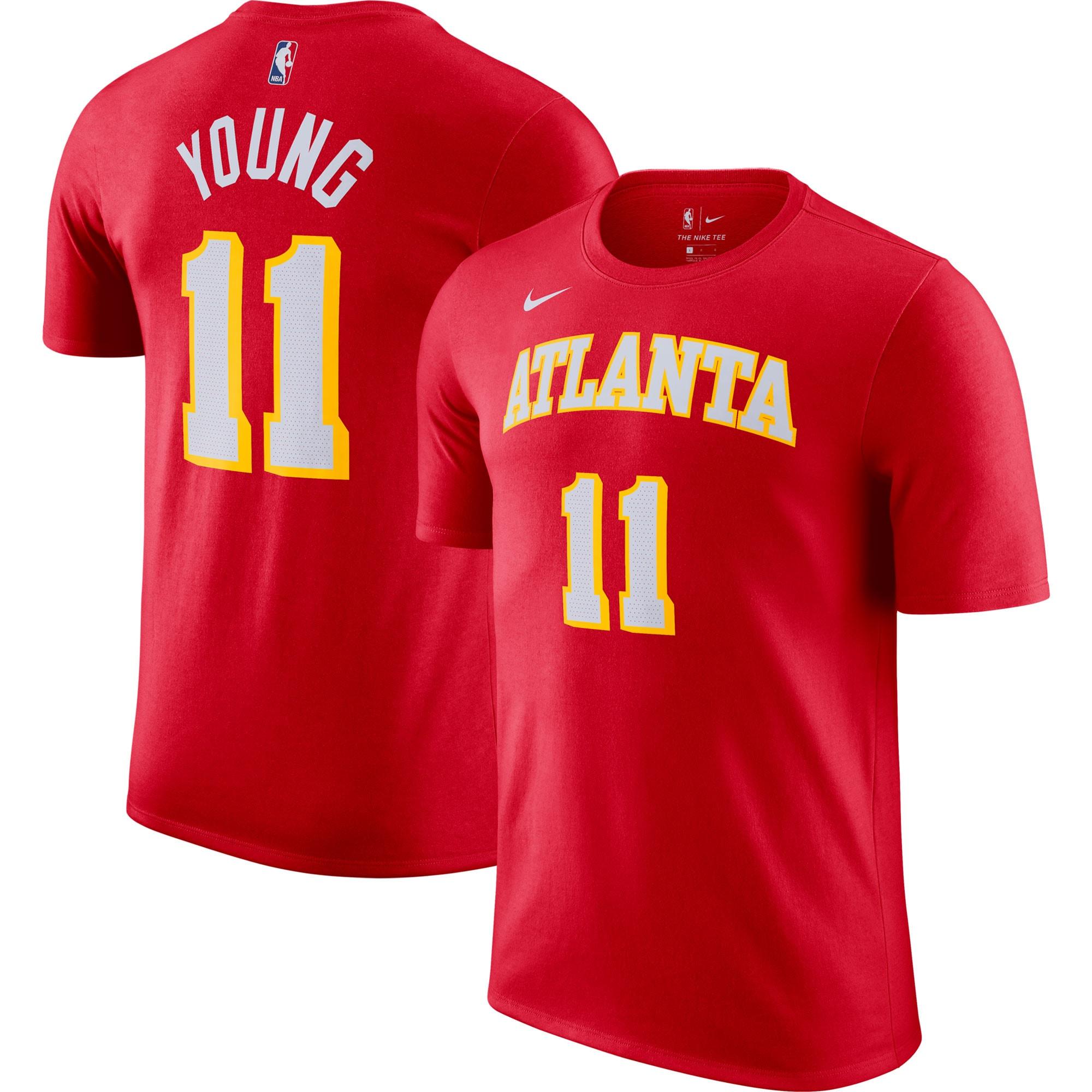 Trae Young Atlanta Hawks Nike Name & Number T-Shirt - Red