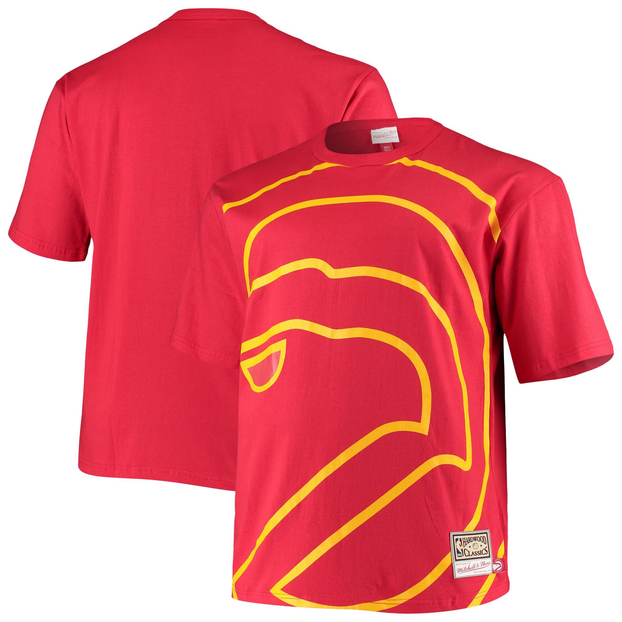 Atlanta Hawks Mitchell & Ness Big & Tall Face T-Shirt - Red