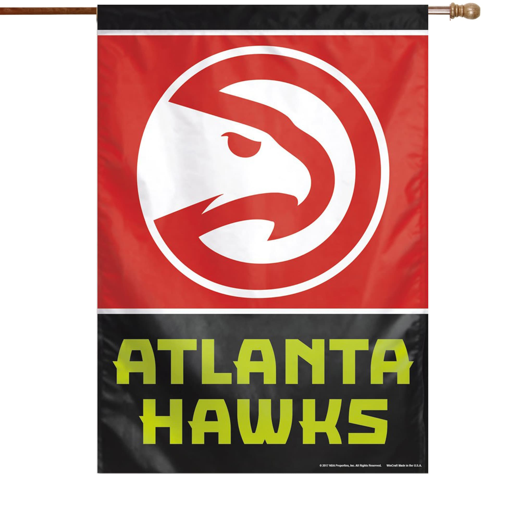 "Atlanta Hawks WinCraft 28"" x 40"" Primary Logo Single-Sided Vertical Banner"