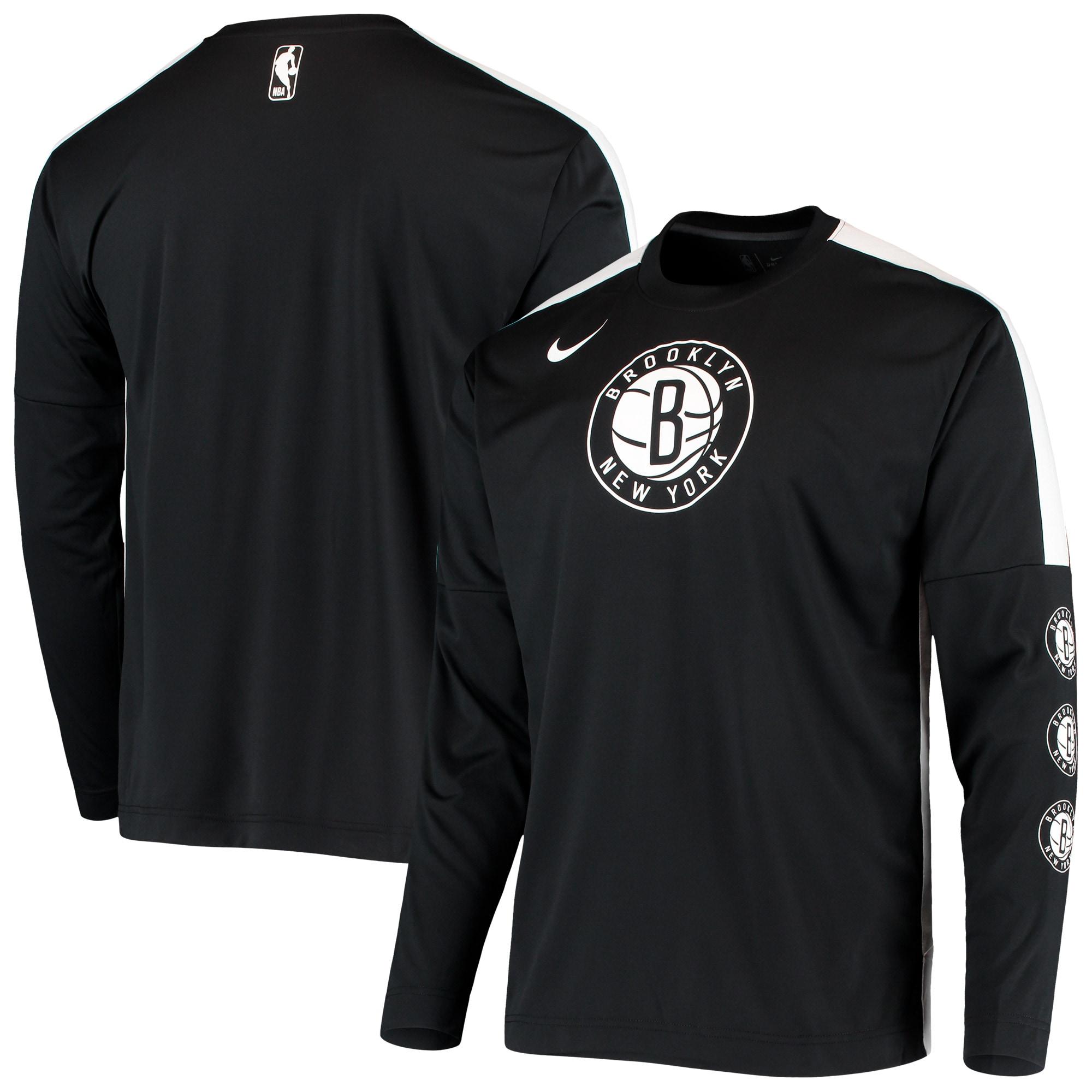 Brooklyn Nets Nike Long Sleeve Shooting Performance Shirt - Black