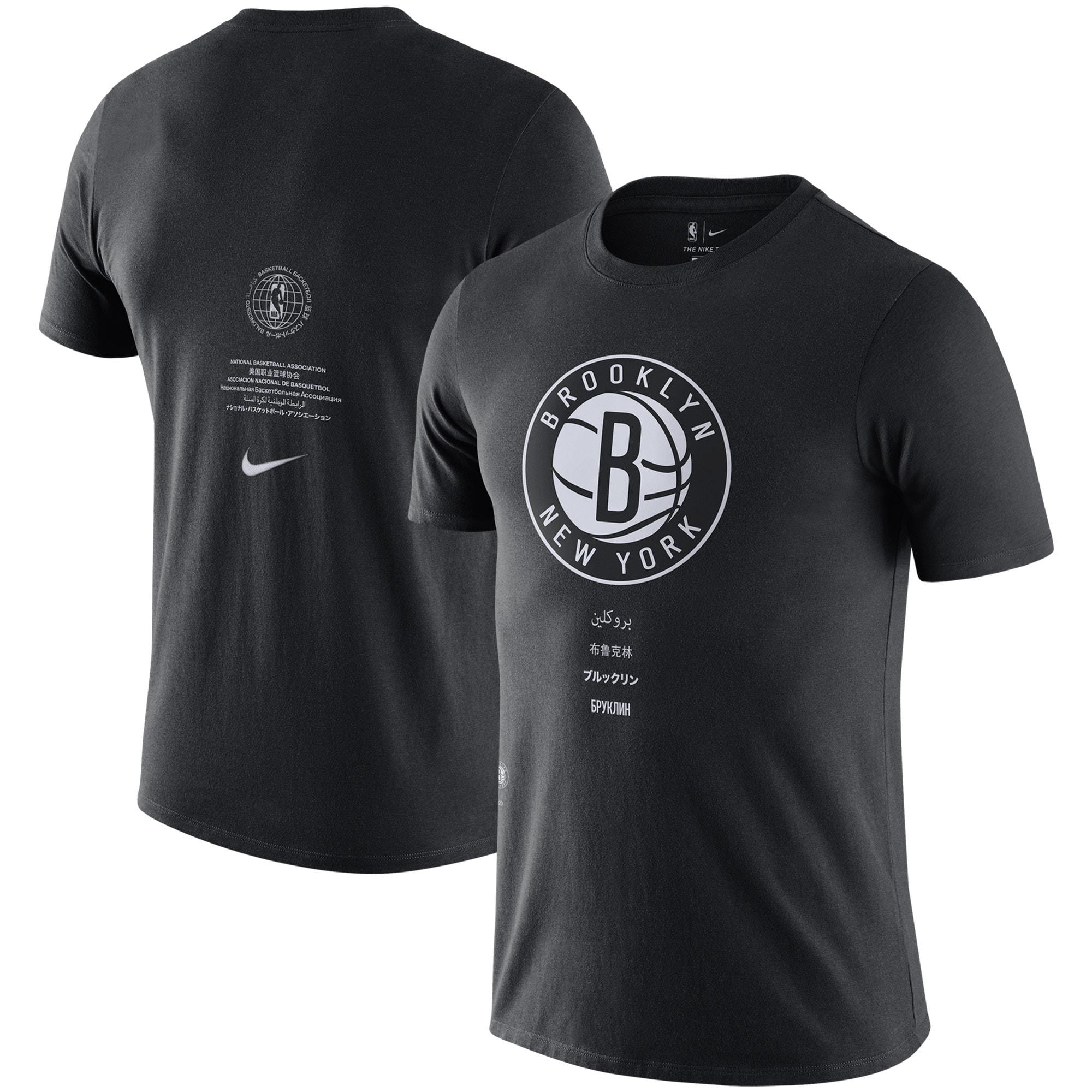 Brooklyn Nets Nike Courtside Global Exploration T-Shirt - Black