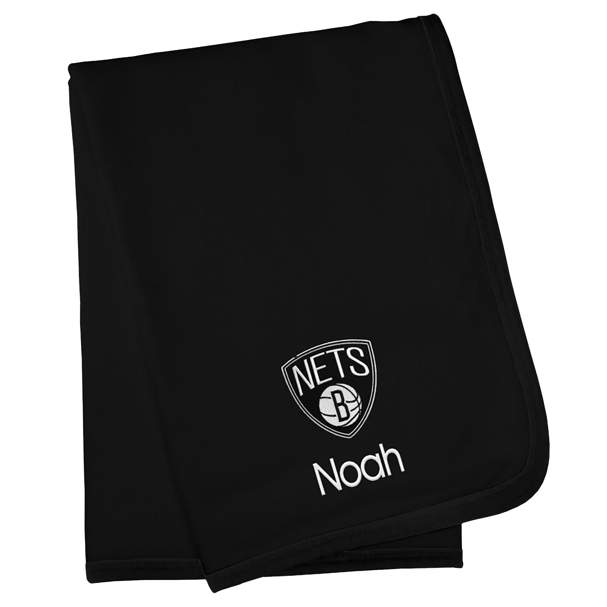 Brooklyn Nets Infant Personalized Blanket - Black