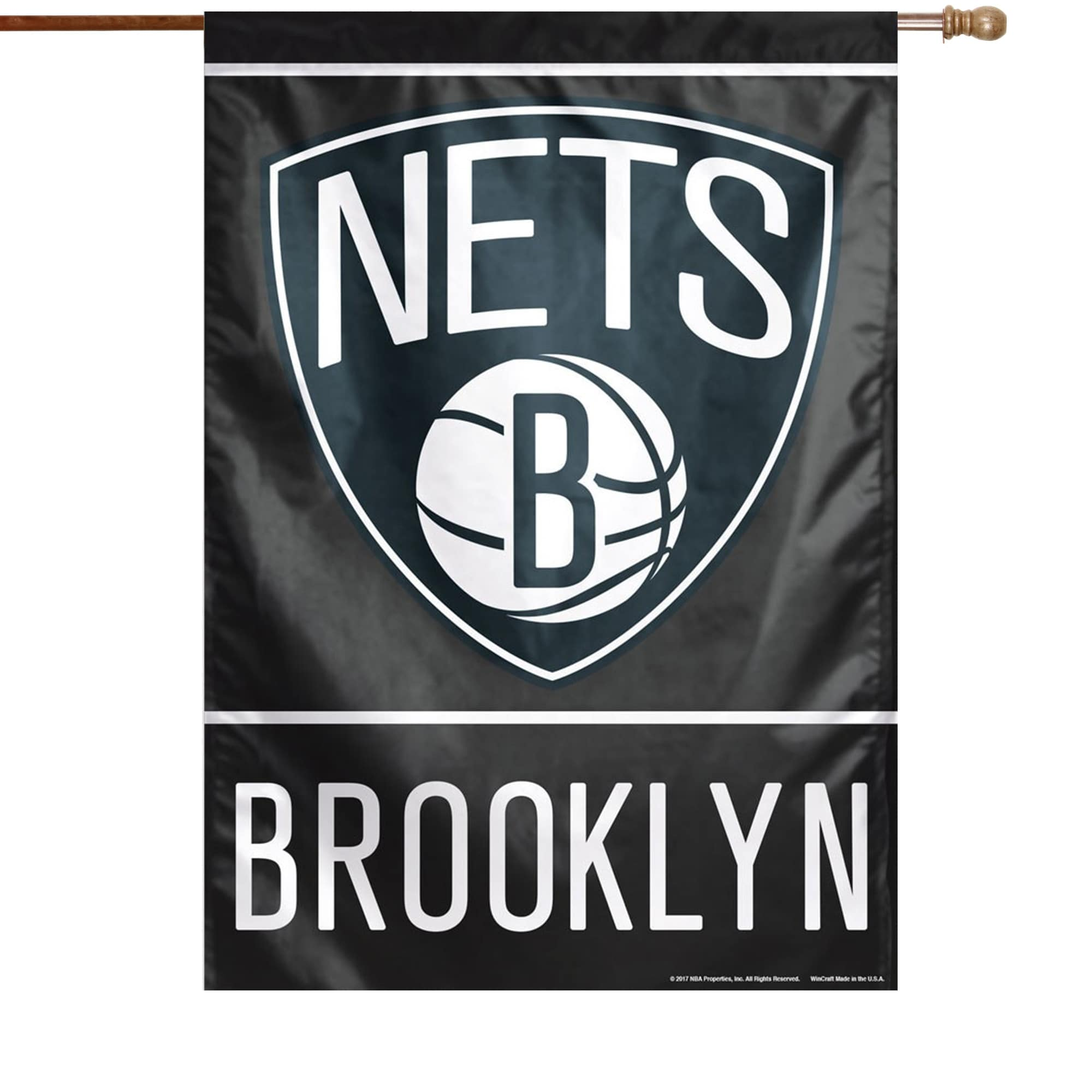 """Brooklyn Nets WinCraft 28"""" x 40"""" Primary Logo Single-Sided Vertical Banner"""