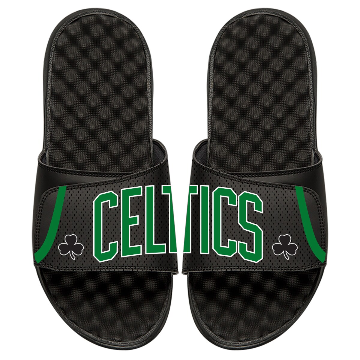 Boston Celtics ISlide Statement Jersey Split Slide Sandals - Black