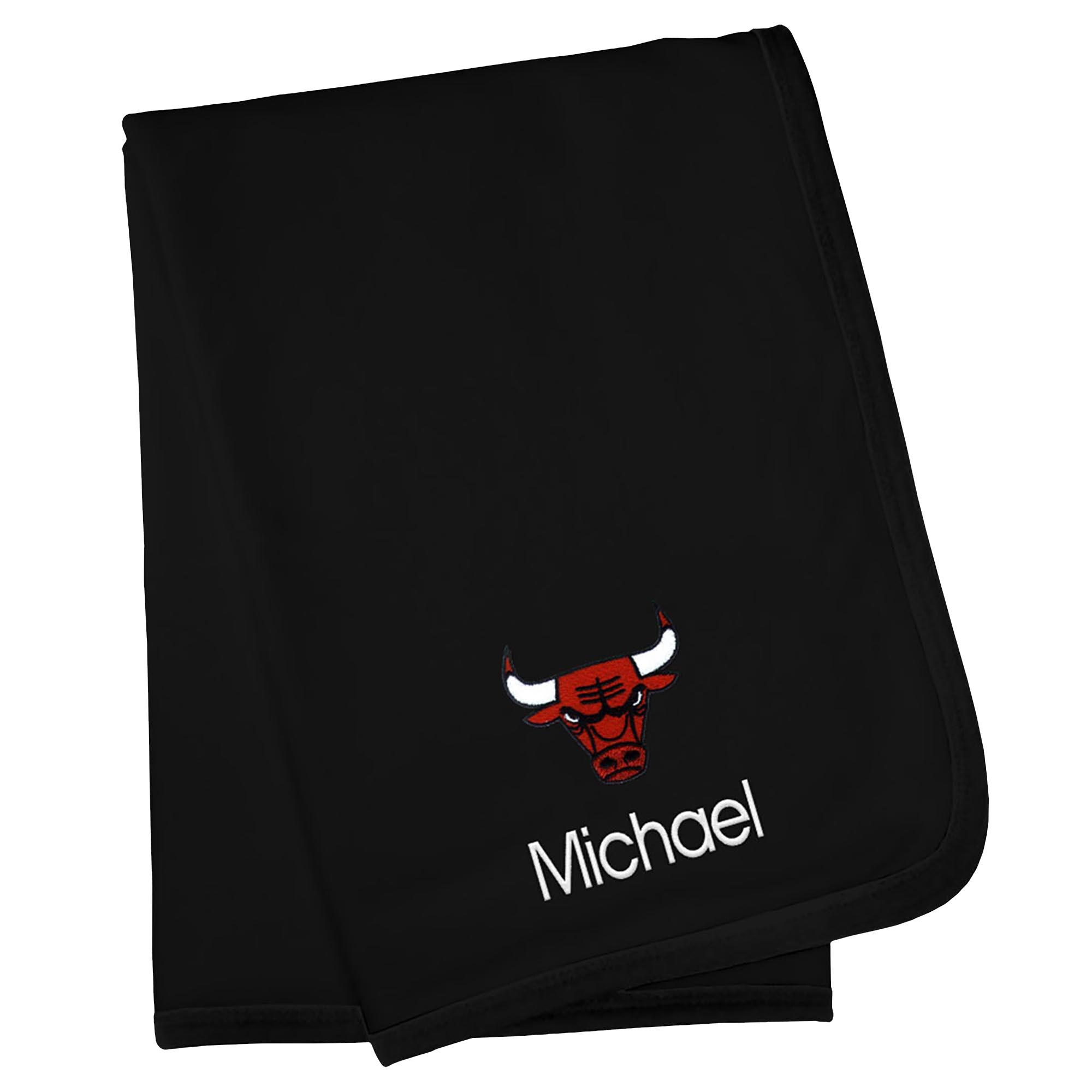 Chicago Bulls Infant Personalized Blanket - Black
