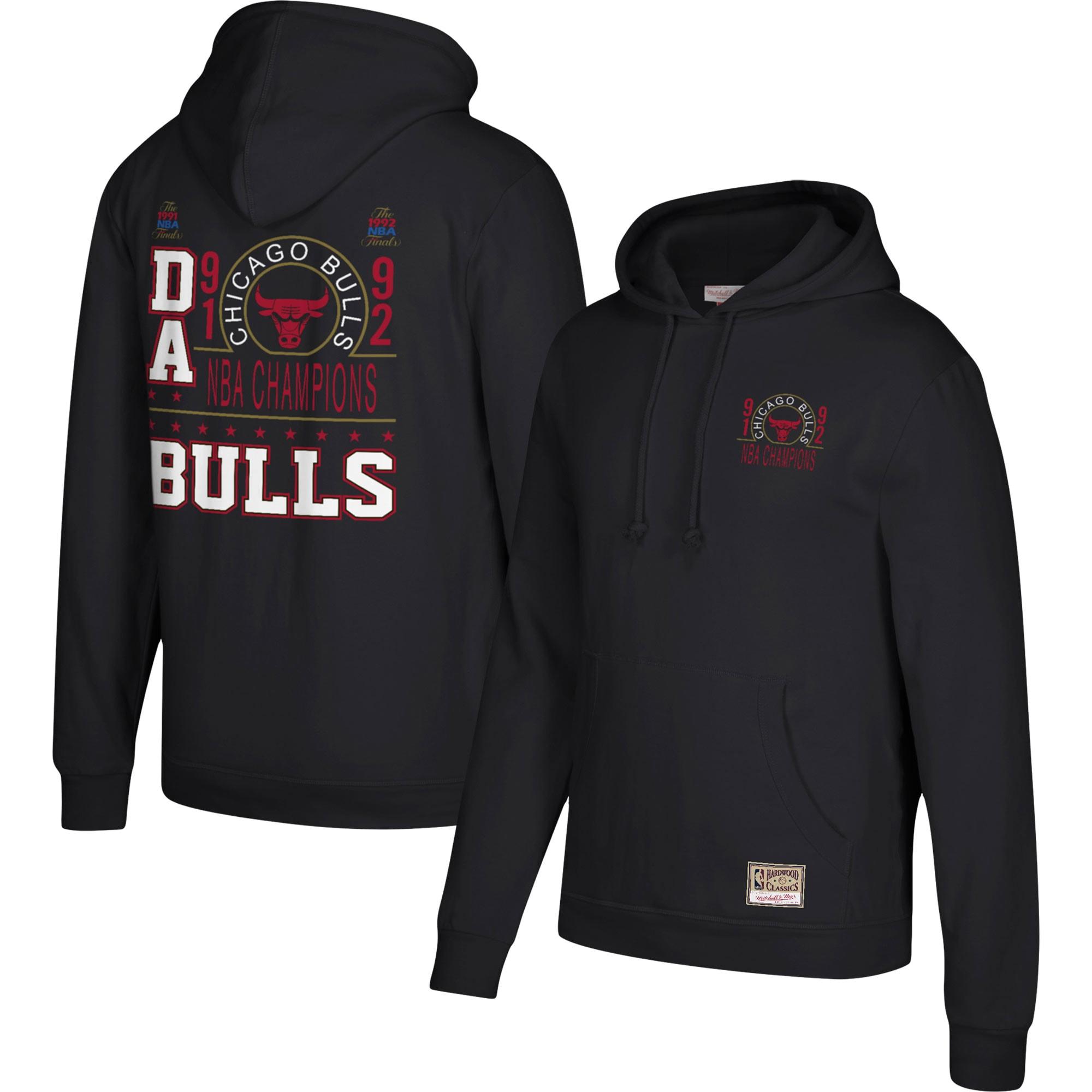 Chicago Bulls Mitchell & Ness Hardwood Classics 1991 & 1992 NBA Champions Pullover Hoodie - Black