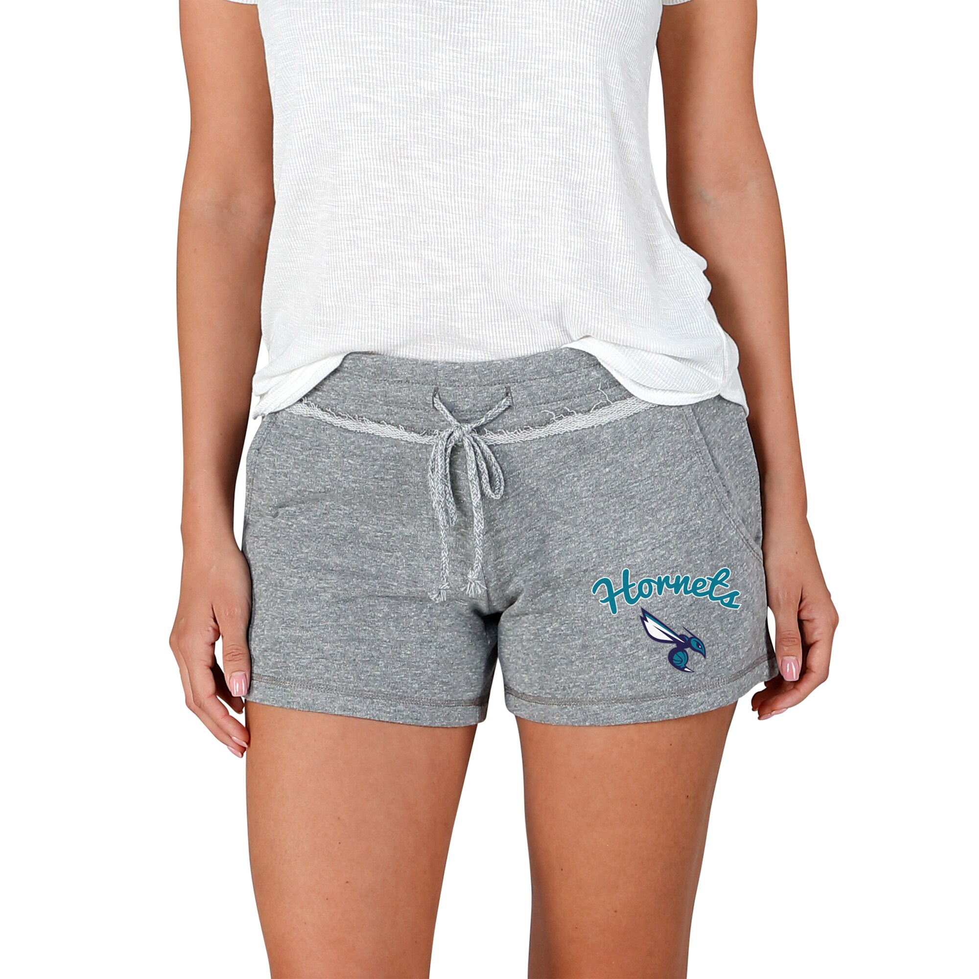 Charlotte Hornets Concepts Sport Women's Mainstream Terry Shorts - Gray