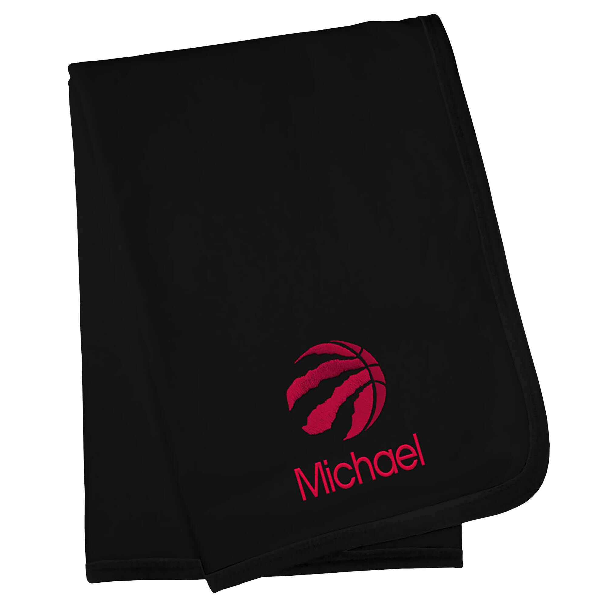 Toronto Raptors Infant Personalized Blanket - Black