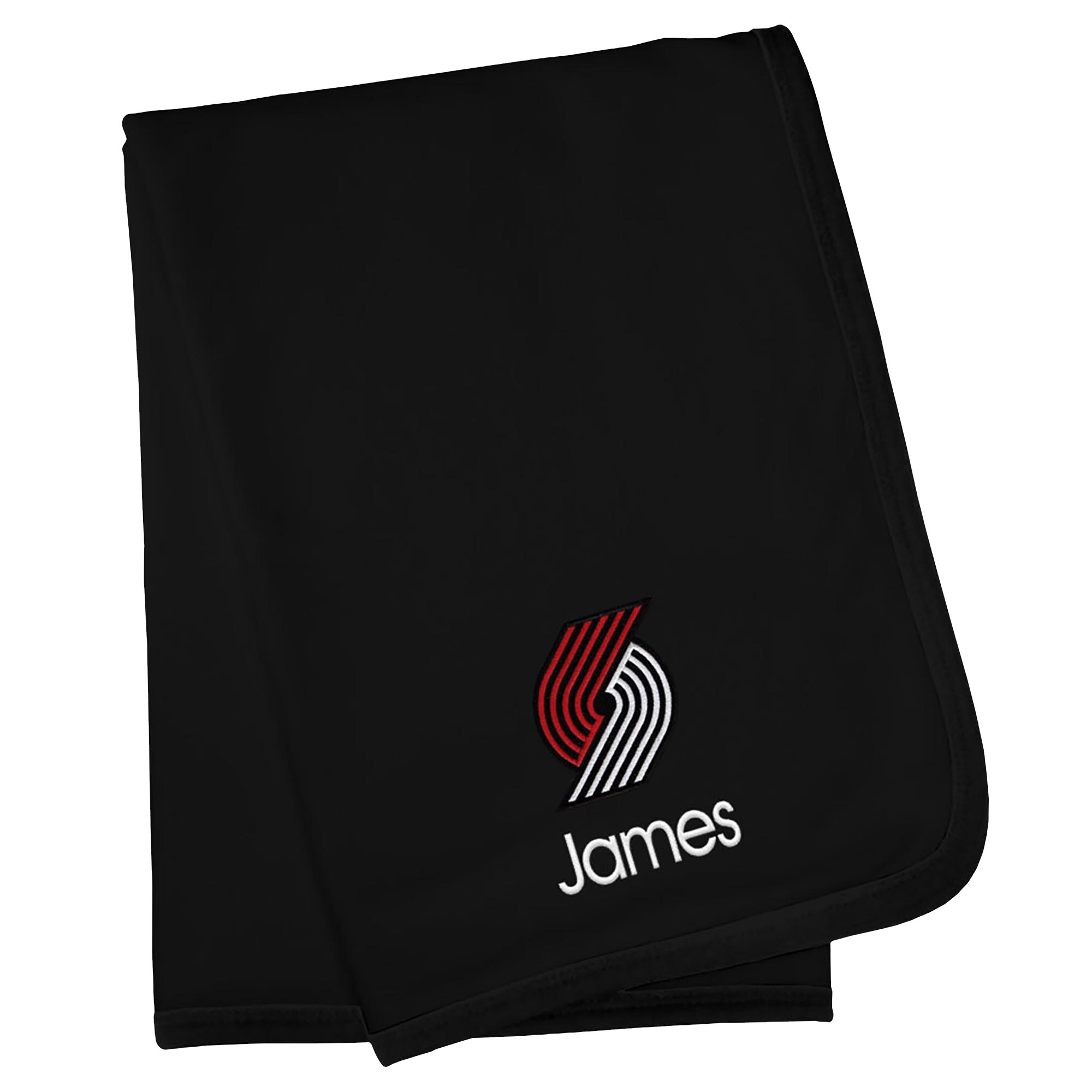 Portland Trail Blazers Infant Personalized Blanket - Black