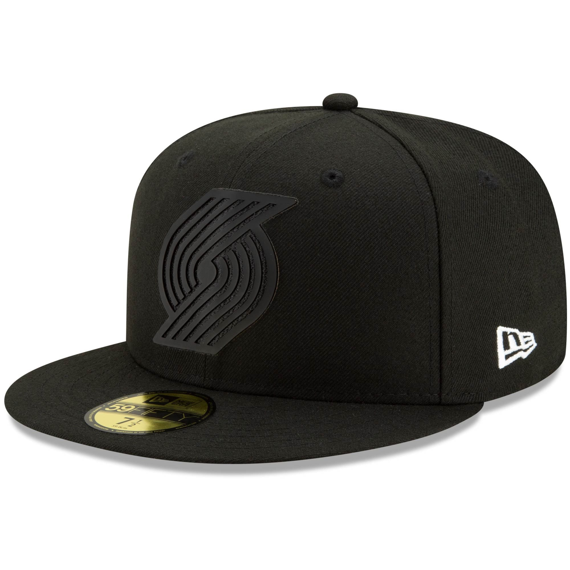 Portland Trail Blazers New Era Back Half 59FIFTY Fitted Hat - Black
