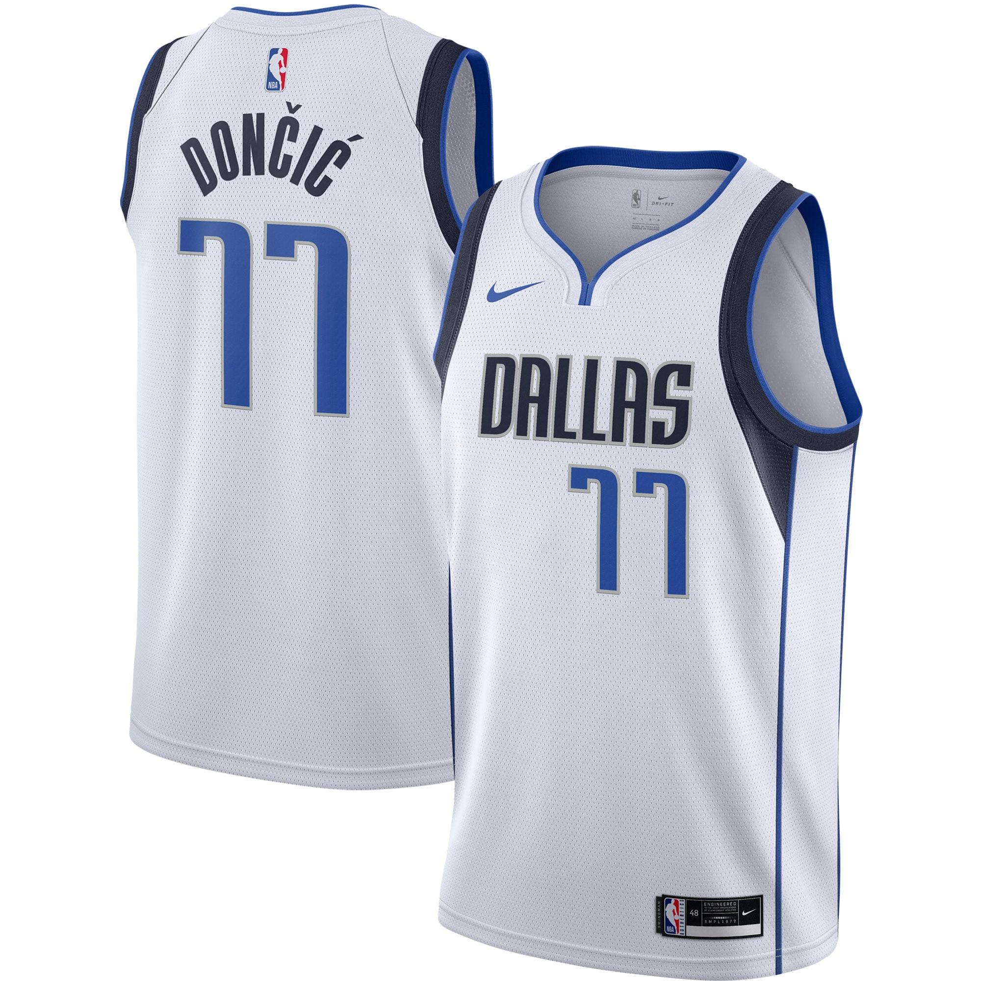 Luka Doncic Dallas Mavericks Nike 2020/21 Swingman Jersey - White - Association Edition