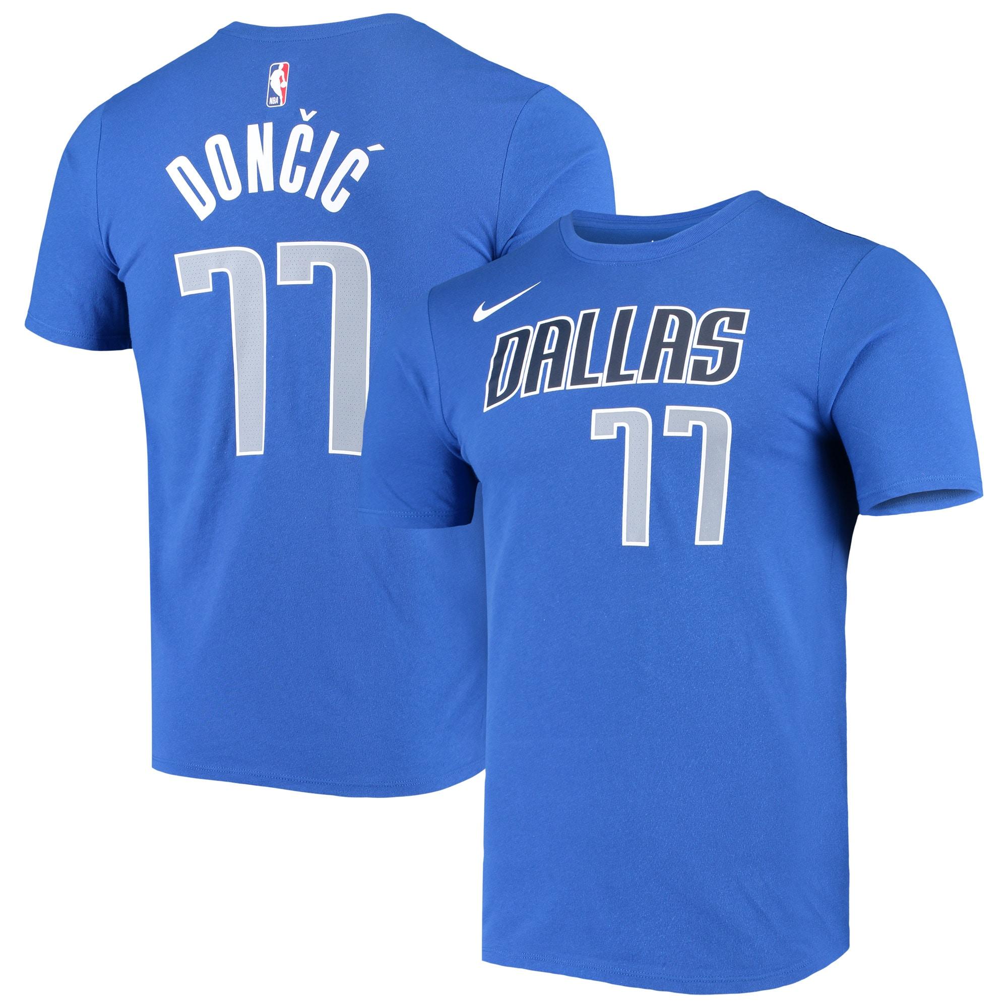 Luka Doncic Dallas Mavericks Nike Statement Edition Name & Number Performance T-Shirt - Blue