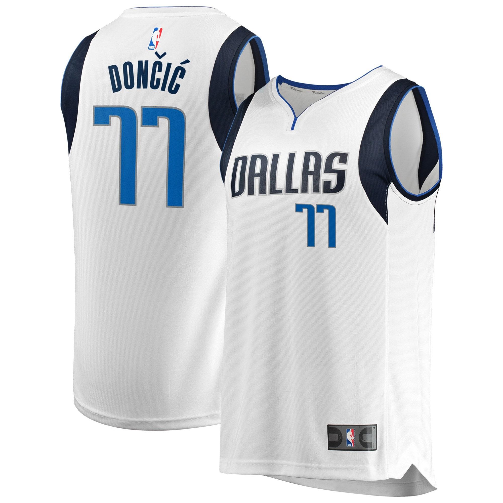 Luka Doncic Dallas Mavericks Fanatics Branded Youth Fast Break Replica Jersey - Association Edition - White