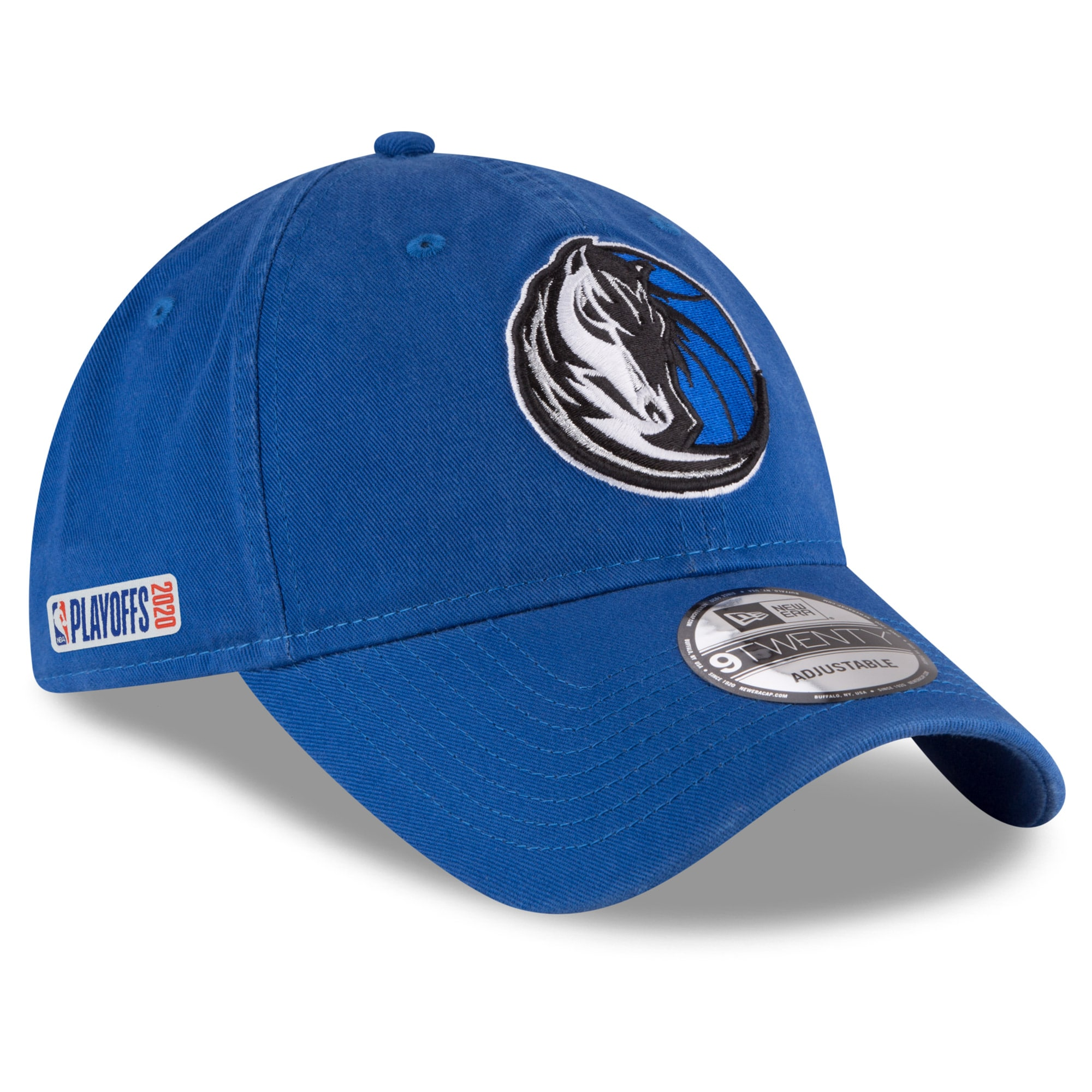Dallas Mavericks New Era 2020 NBA Playoffs Bound 9TWENTY Adjustable Hat - Blue