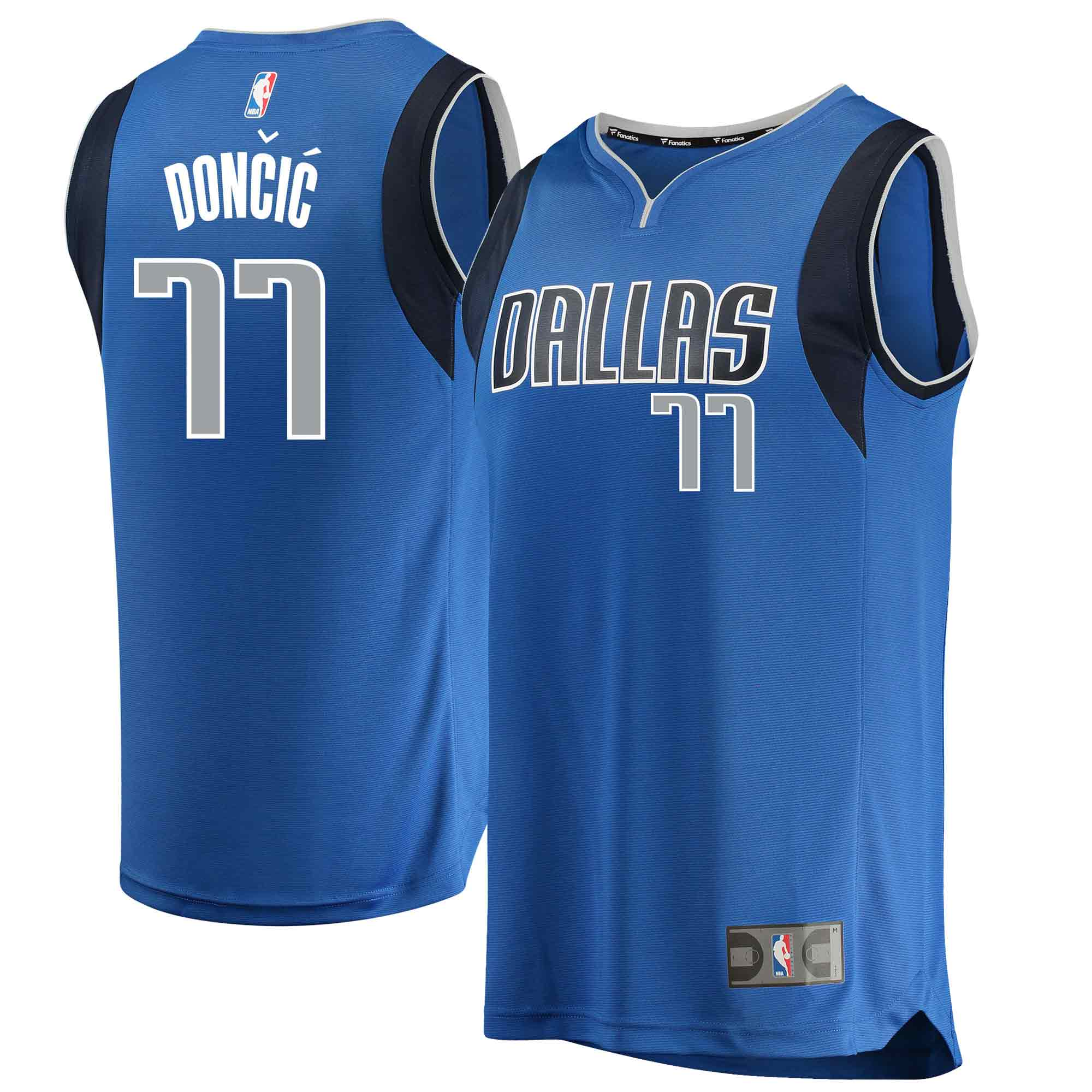 Luka Doncic Dallas Mavericks Fanatics Branded Youth 2018 NBA Draft First Round Pick Fast Break Replica Jersey Blue - Icon Edition