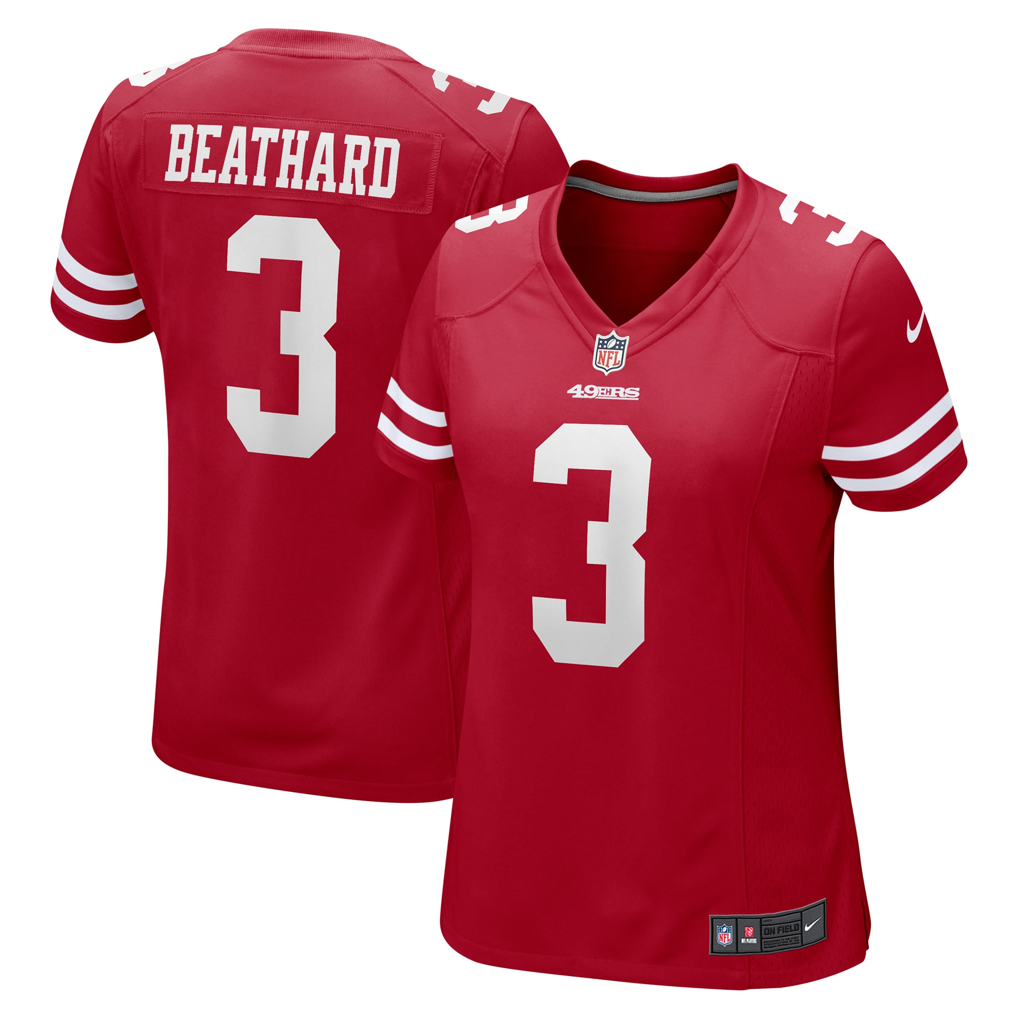 C.J. Beathard San Francisco 49ers Nike Women's Game Jersey - Scarlet
